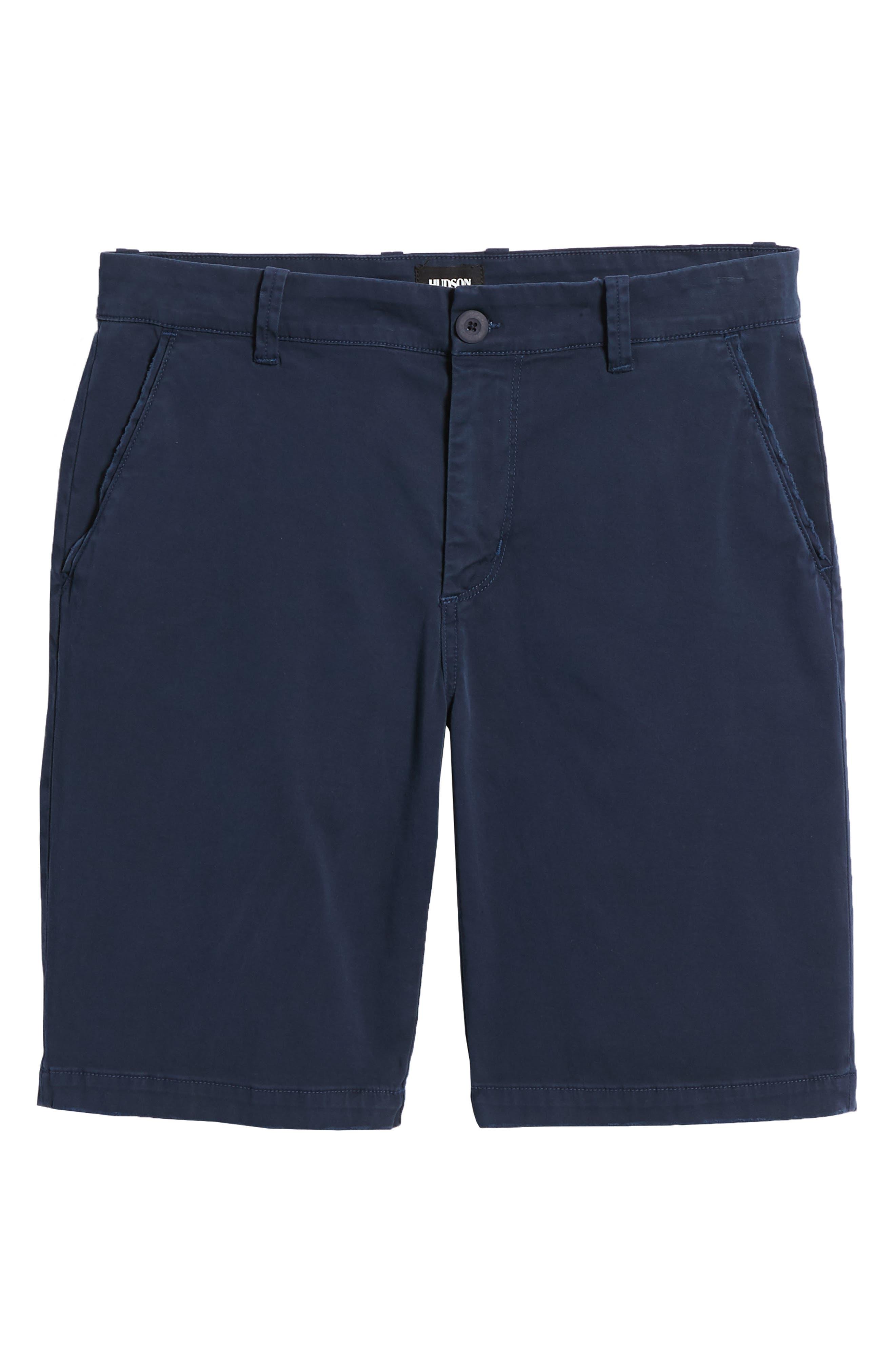 Hudson Clint Chino Shorts,                             Alternate thumbnail 6, color,                             Navy