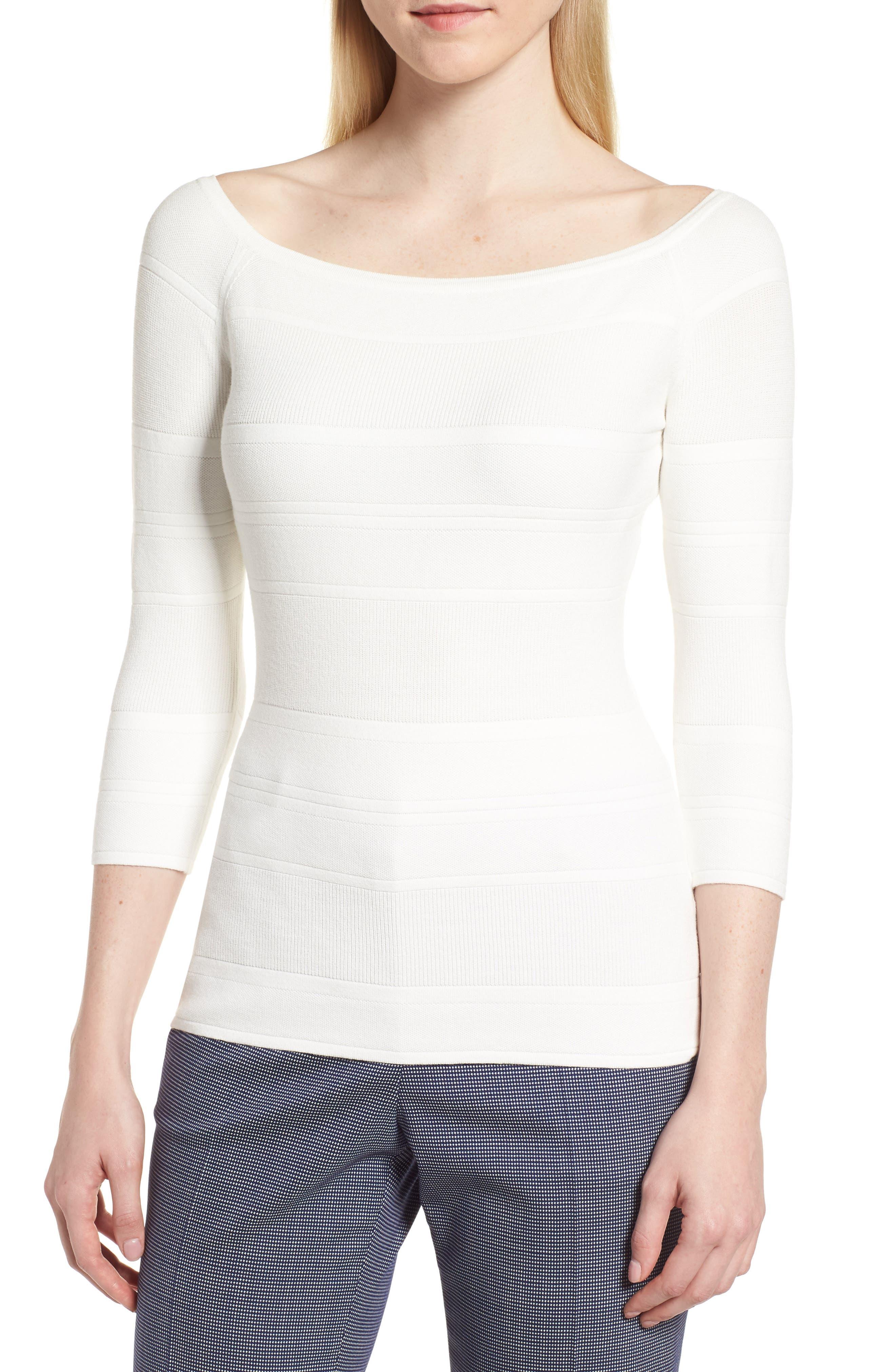 Finami Sweater,                         Main,                         color, White