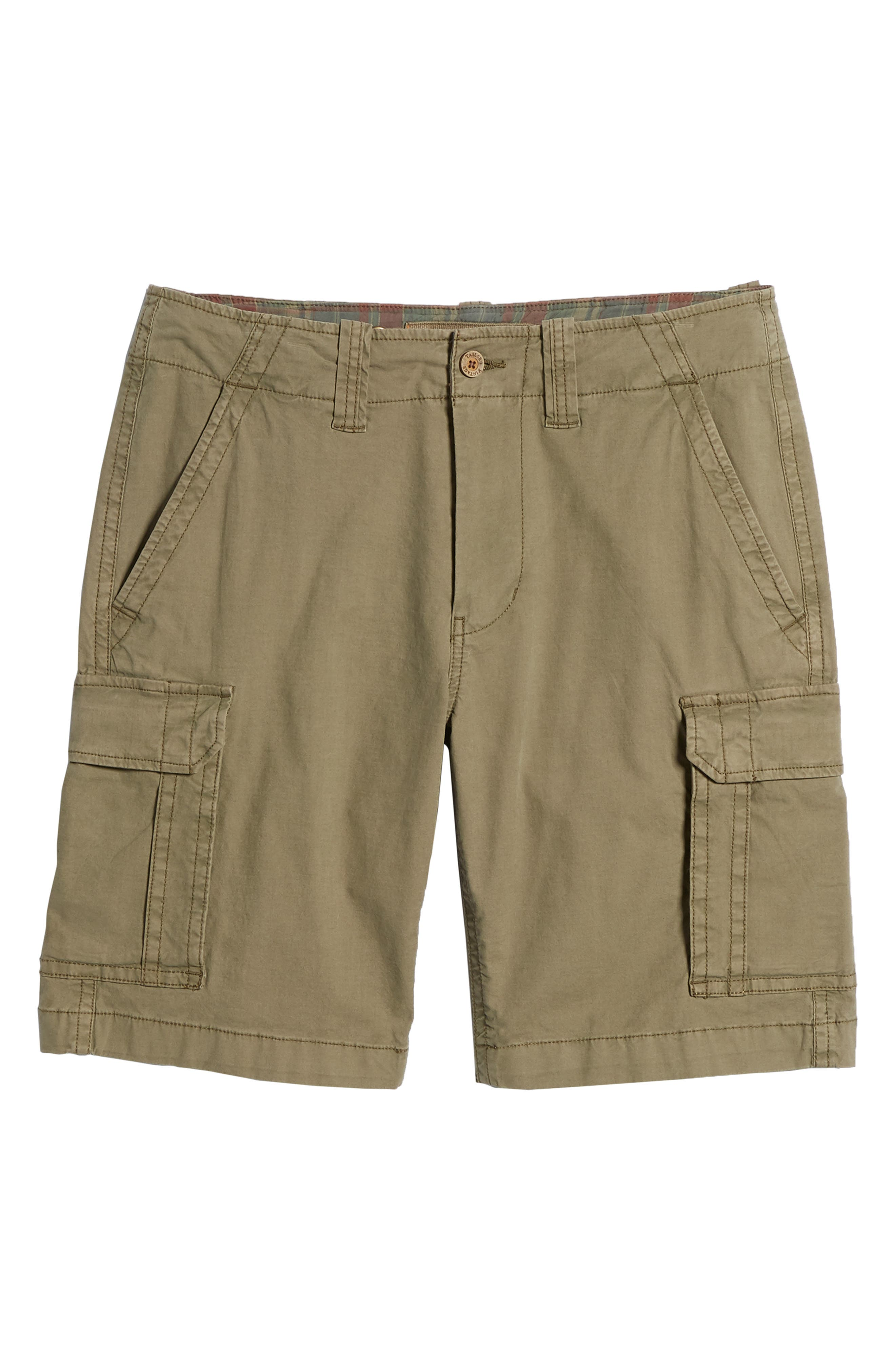 Stretch Canvas Cargo Shorts,                             Alternate thumbnail 6, color,                             Army