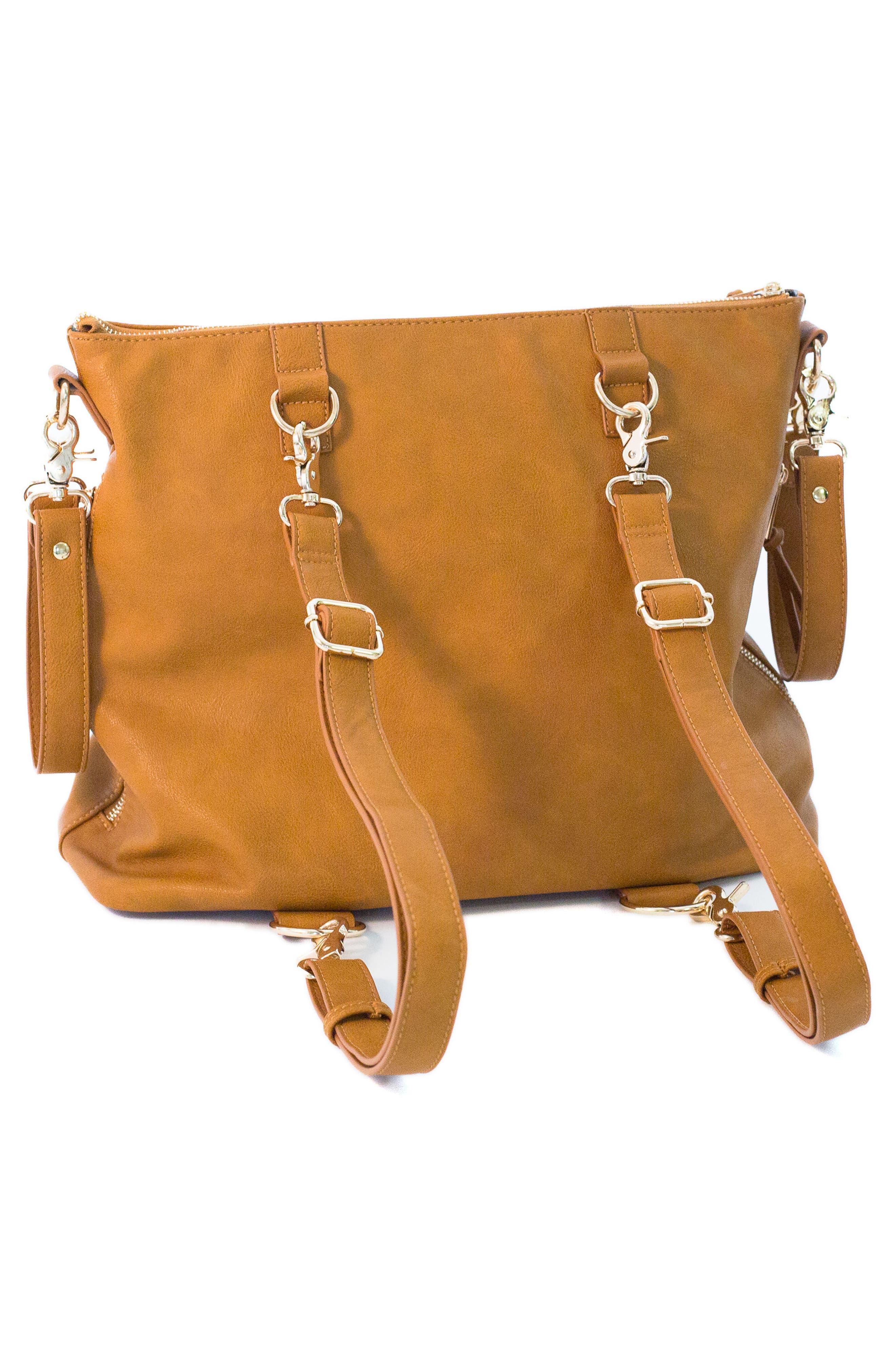 Boss Bag Convertible Diaper Backpack,                             Alternate thumbnail 8, color,                             Cognac
