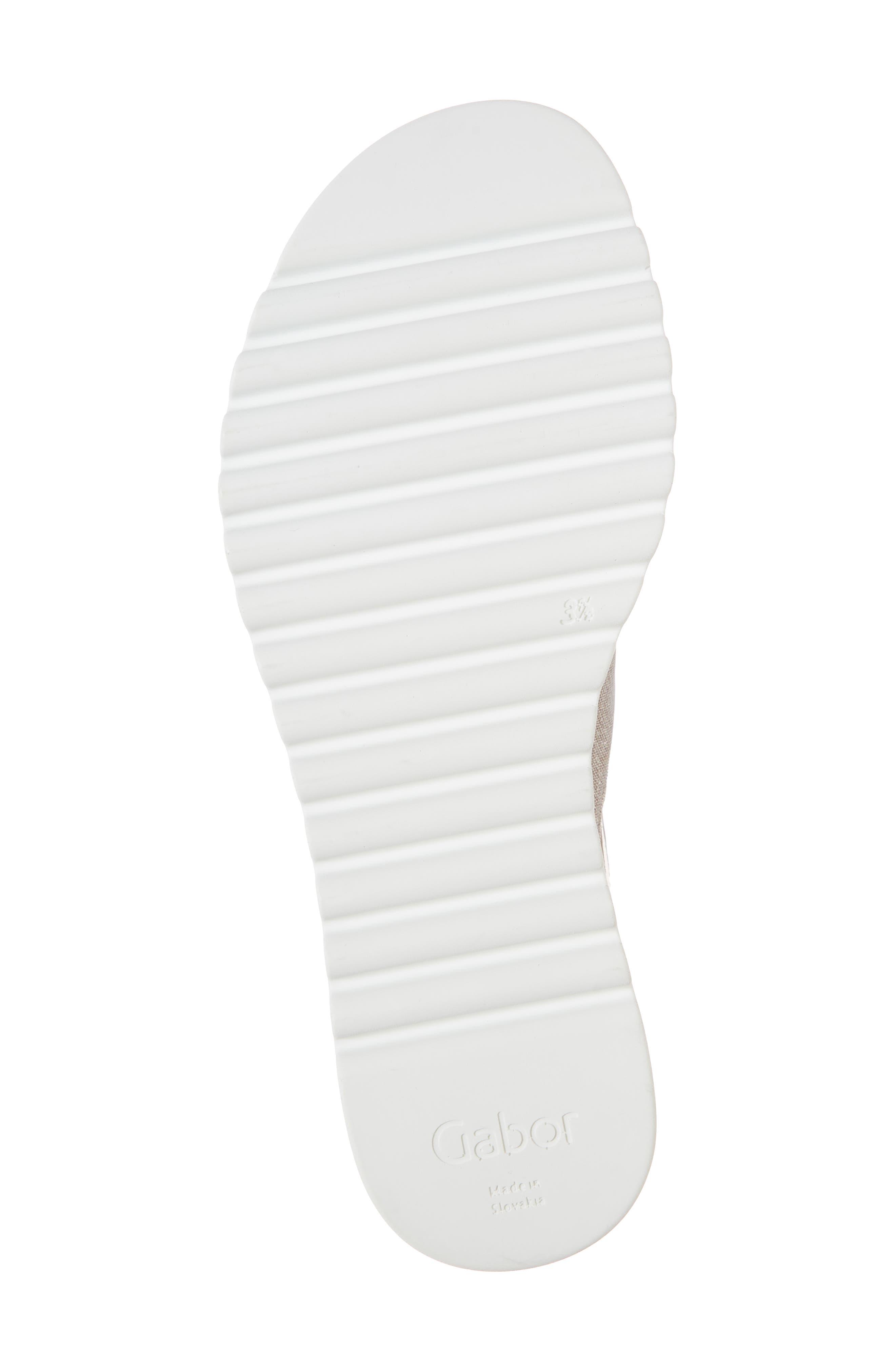 Flower Platform Sandal,                             Alternate thumbnail 6, color,                             Rose Metallic Fabric