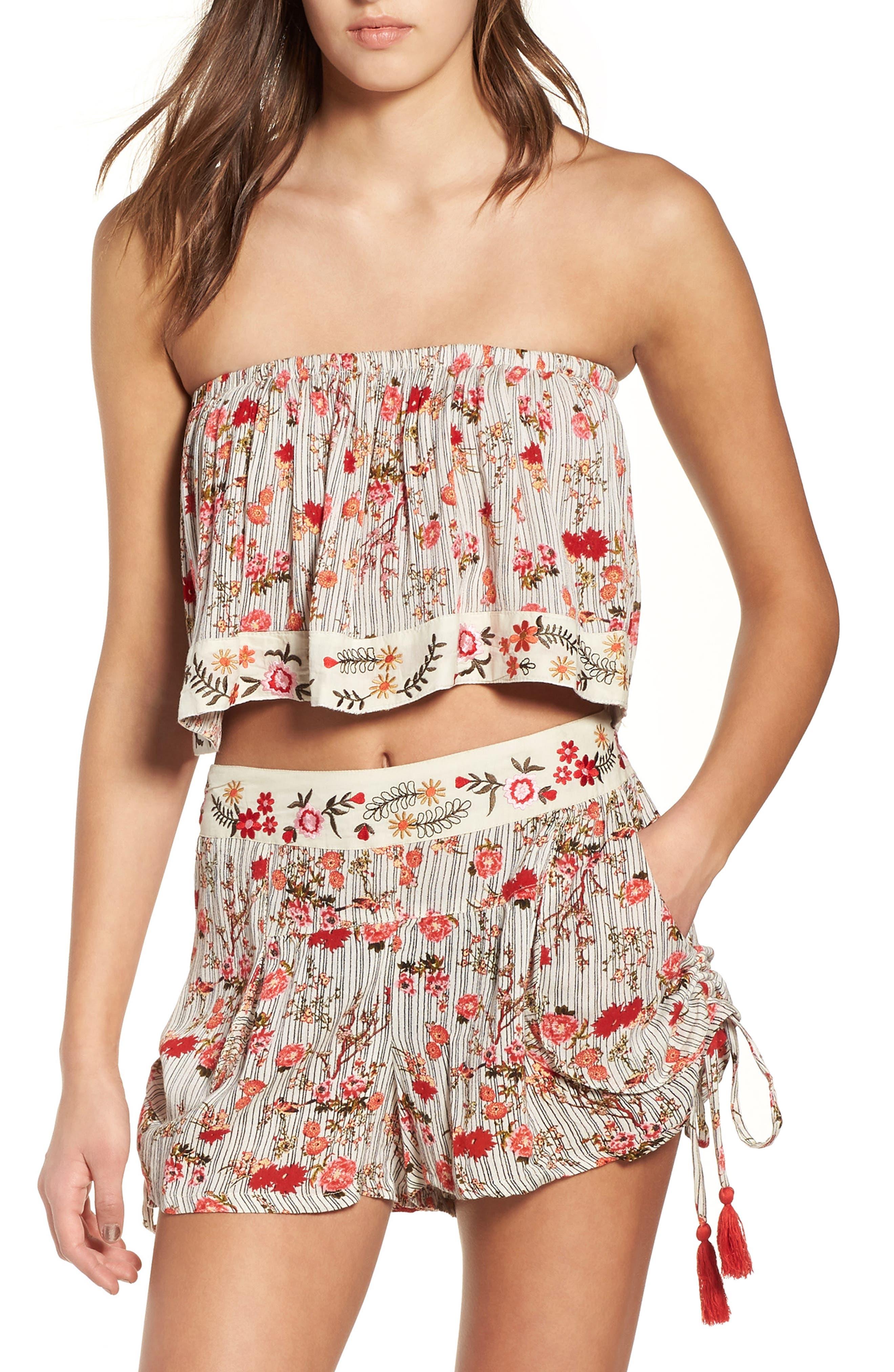 Primrose Floral Print Shorts,                         Main,                         color, Multi