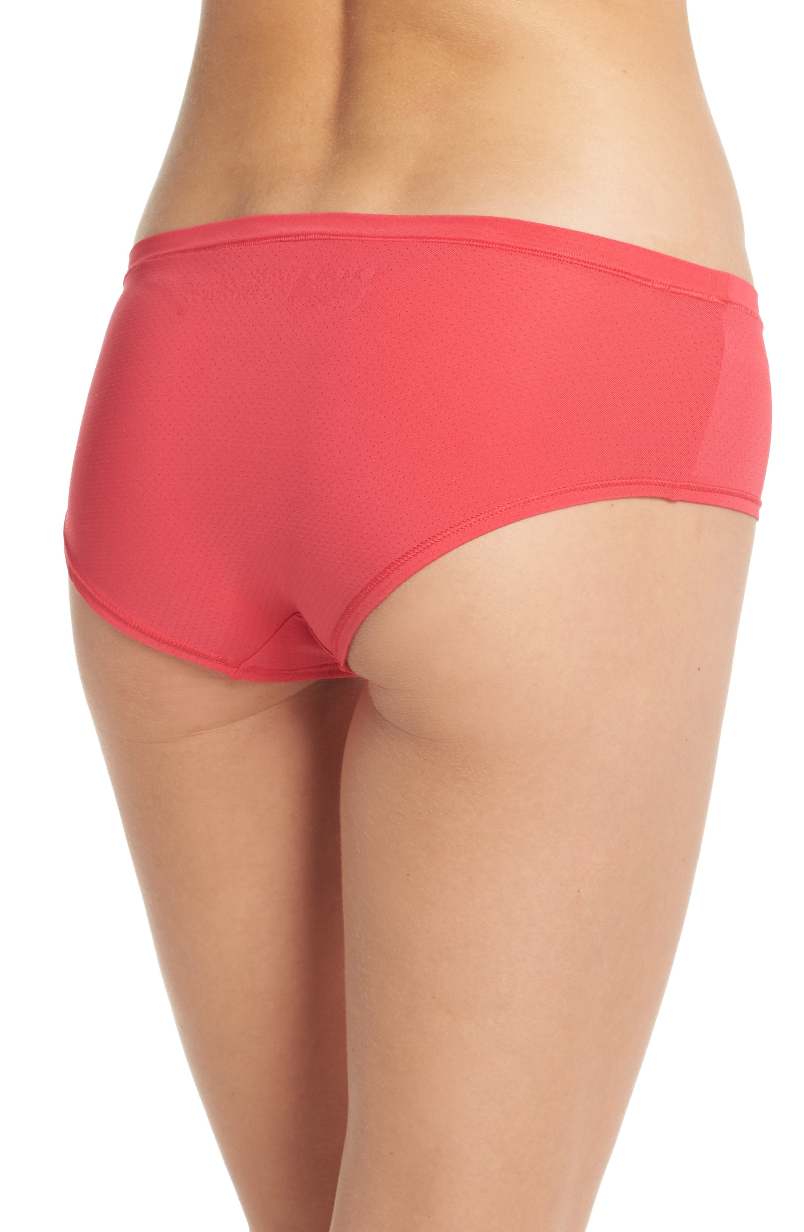 Active Mesh Hipster Briefs,                             Alternate thumbnail 2, color,                             Red Hibiscus