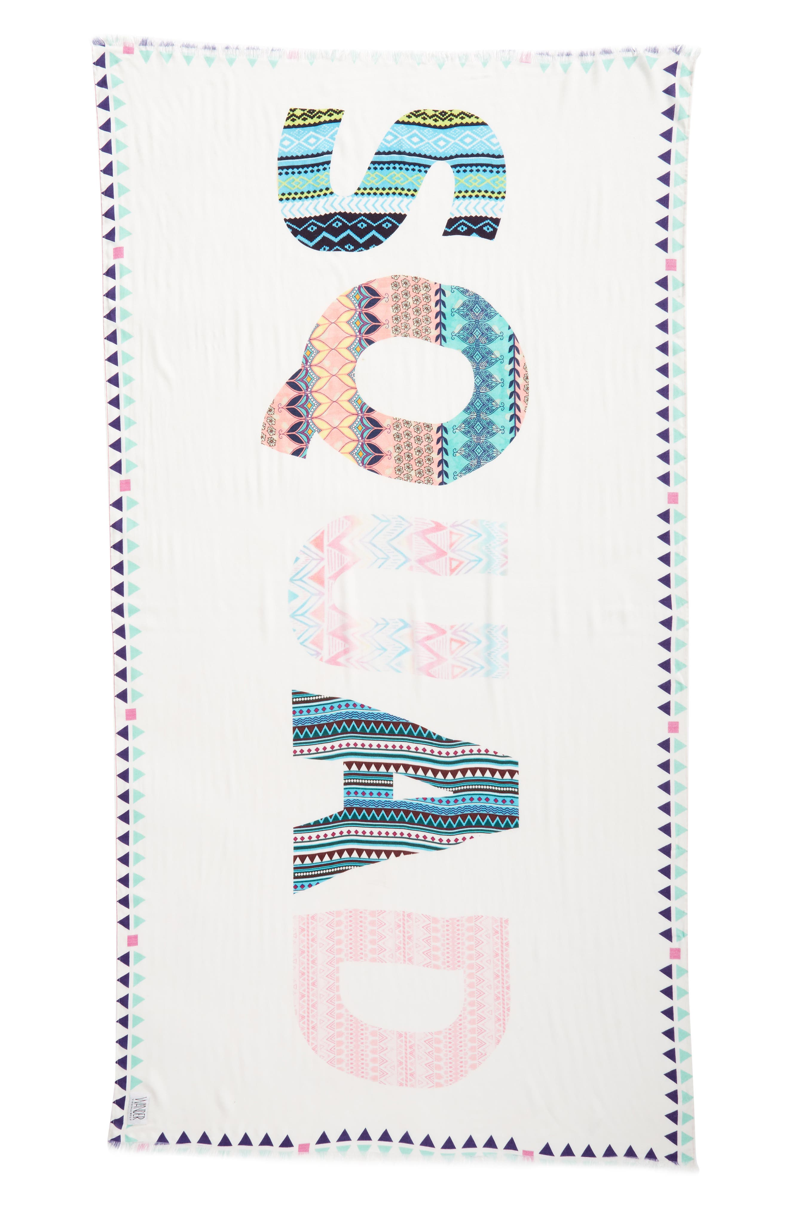 Wrap Yourself in Positive Vibes - Squad Scarf,                             Alternate thumbnail 5, color,                             White