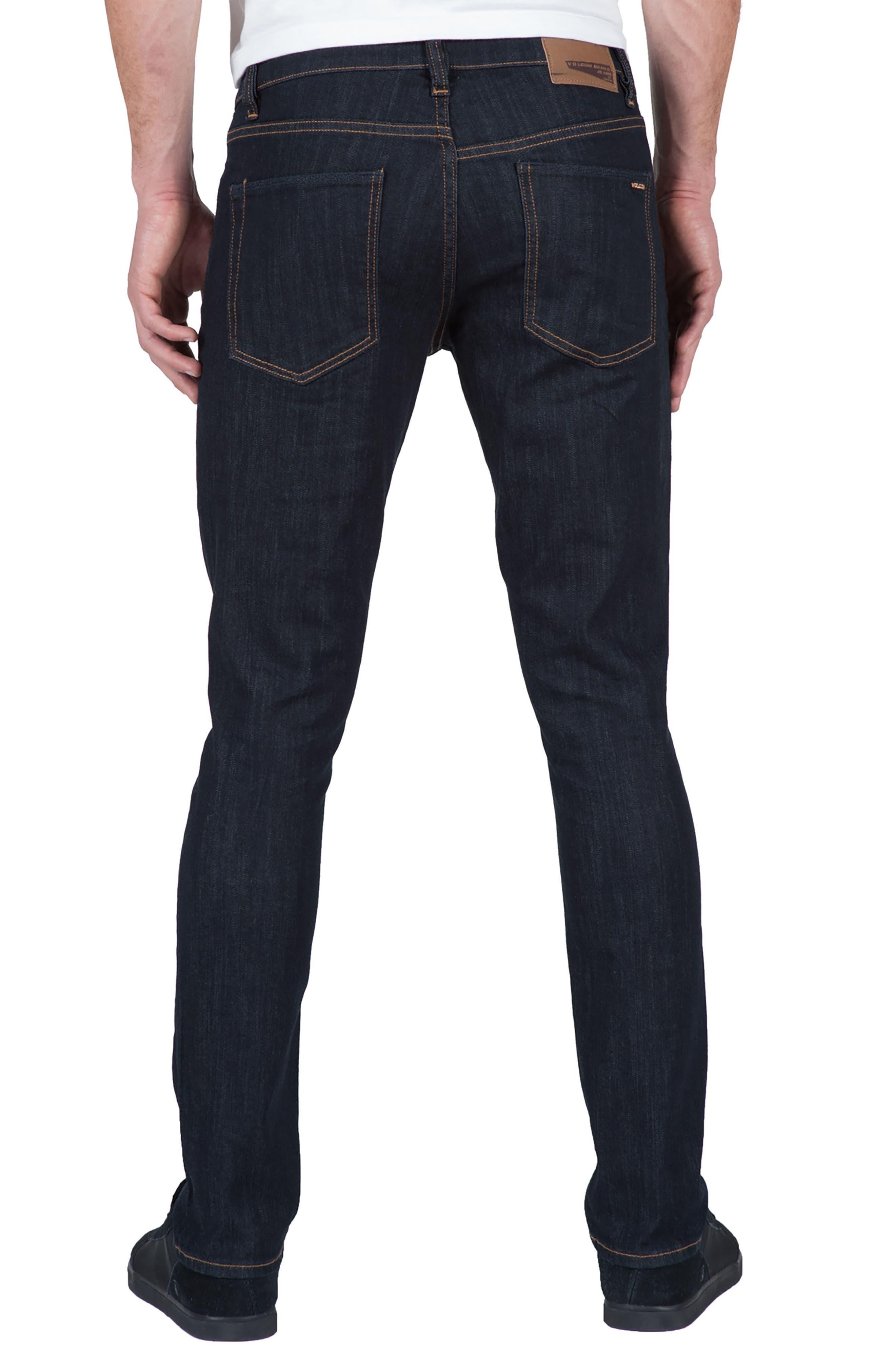2x4 Slim Straight Leg Jeans,                             Alternate thumbnail 2, color,                             Blue Rinse