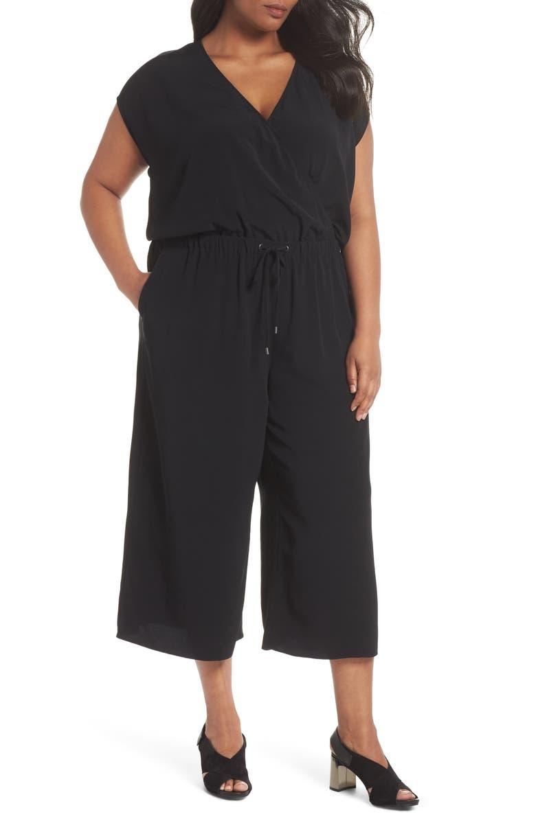 Wide Leg Crop Jumpsuit