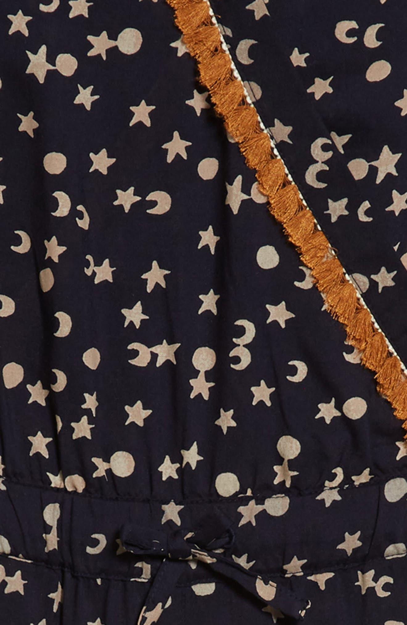 Scotch R'Belle Moon & Star Fringe Jumpsuit,                             Alternate thumbnail 2, color,                             Navy Print