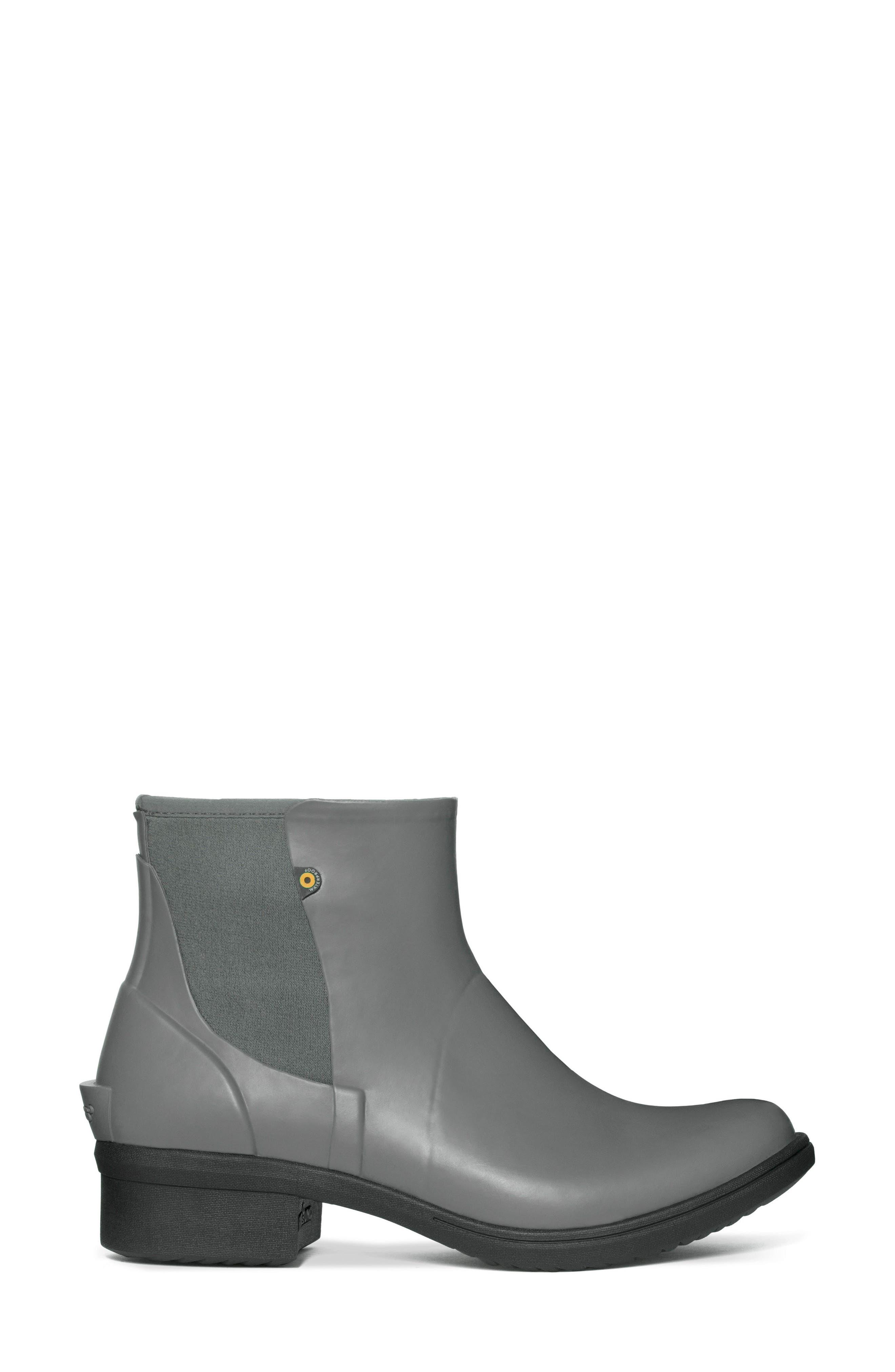 Auburn Insulated Waterproof Boot,                             Alternate thumbnail 3, color,                             Grey