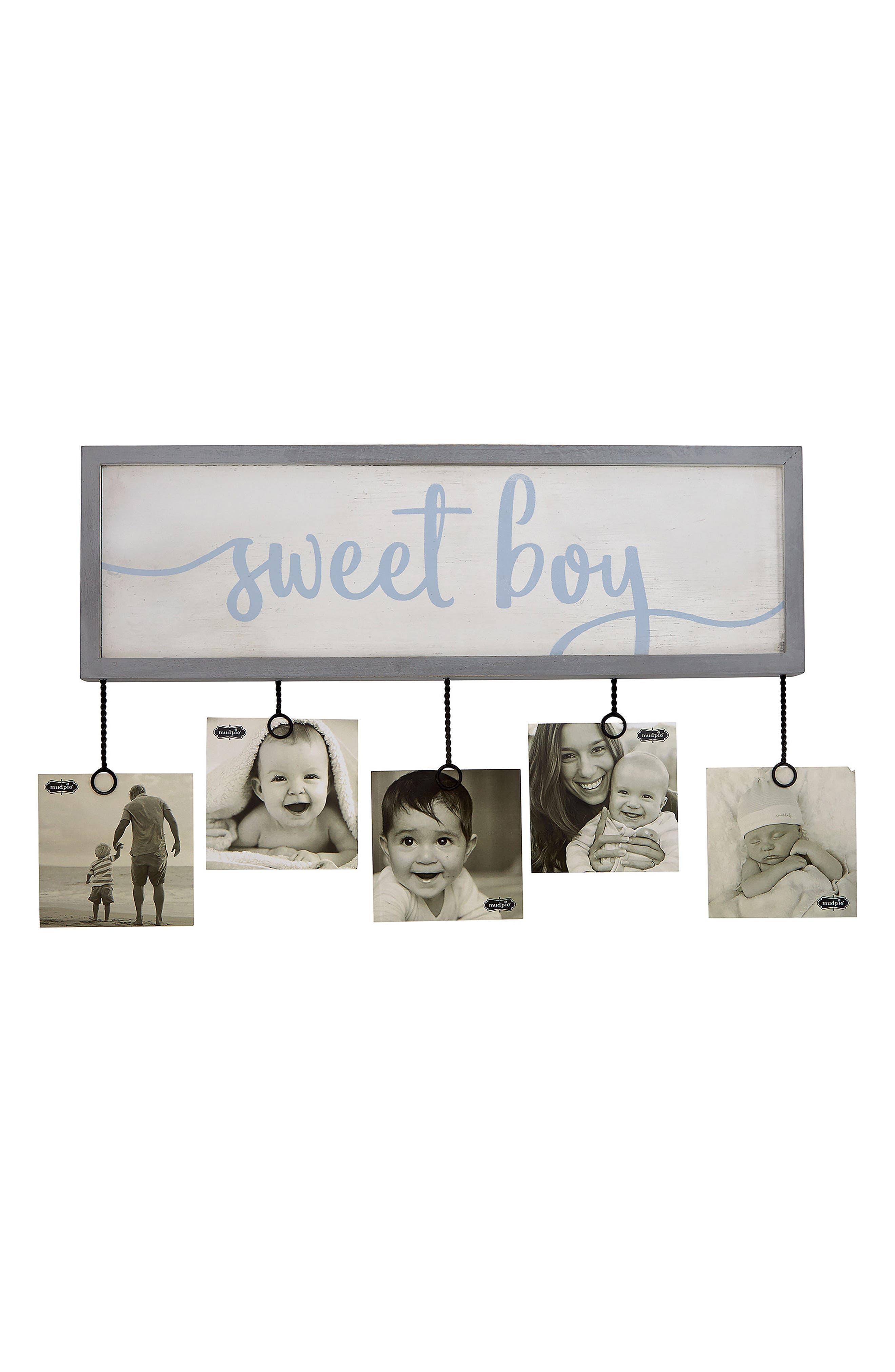 Sweet Boy Photo Holder,                             Main thumbnail 1, color,                             Blue