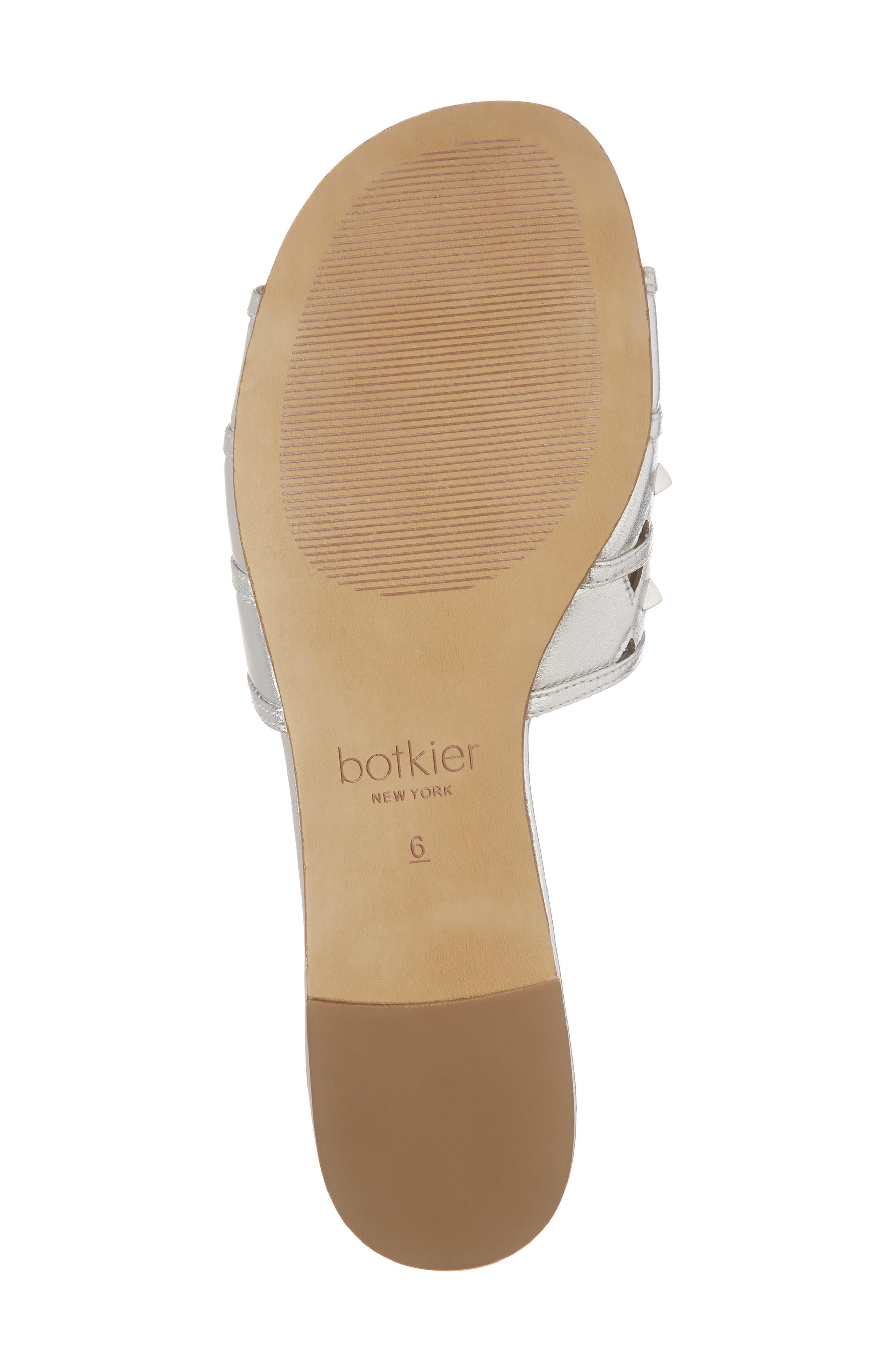 Maeva Slide Sandal,                             Alternate thumbnail 6, color,                             Argento Leather
