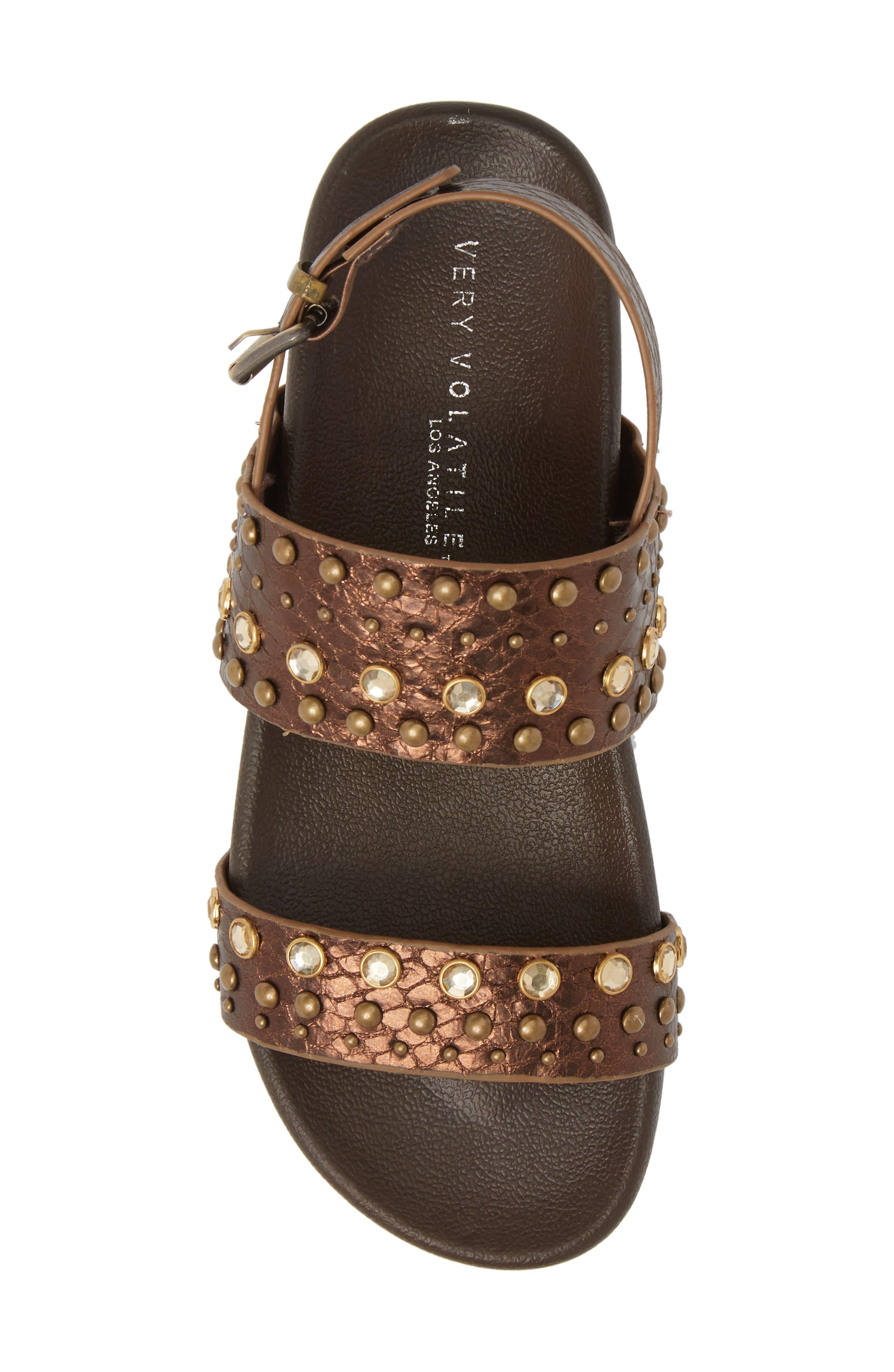 Milan Platform Sandal,                             Alternate thumbnail 5, color,                             Bronze