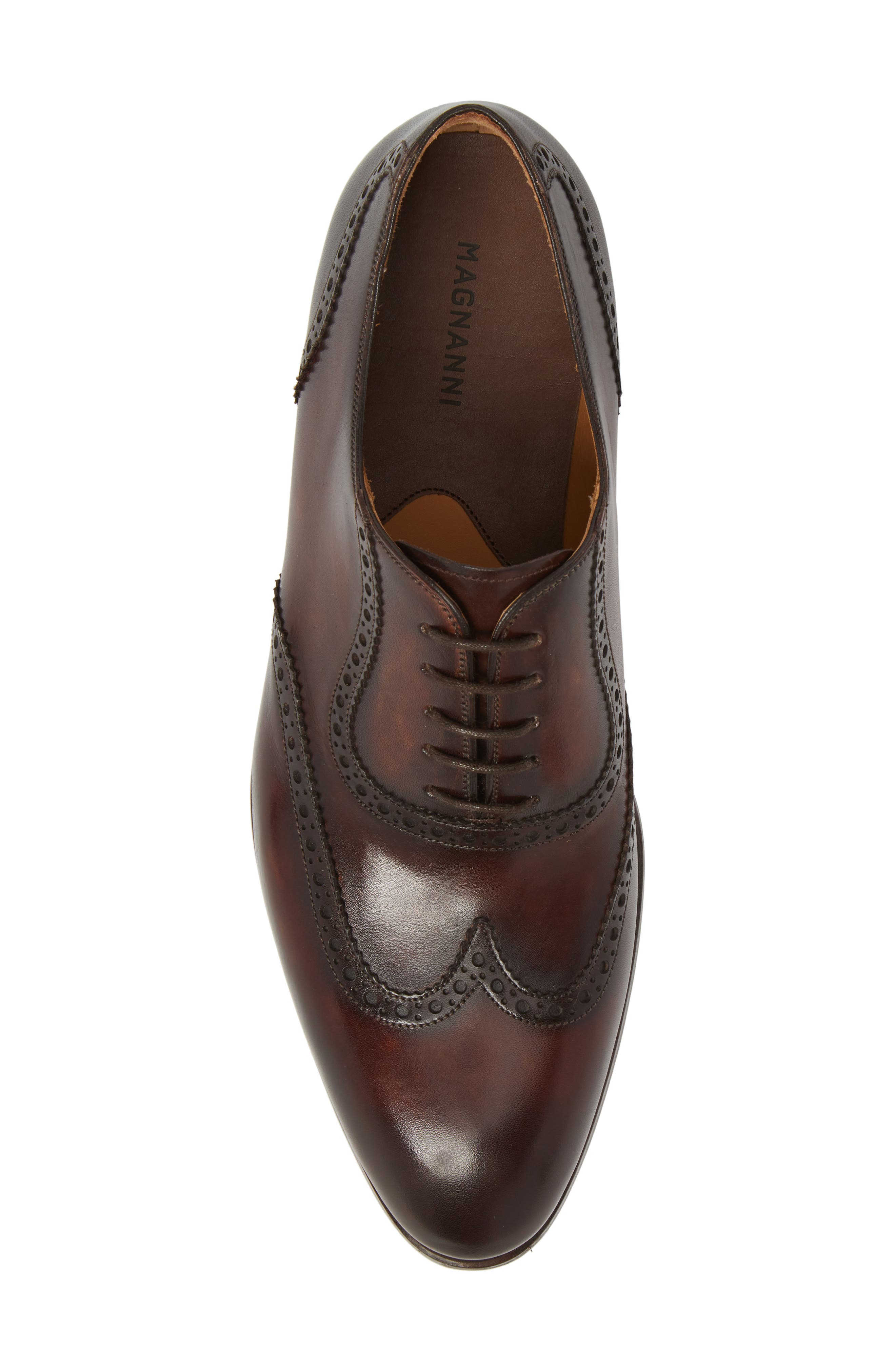 Dana Wingtip Oxford,                             Alternate thumbnail 5, color,                             Mid-Brown Leather