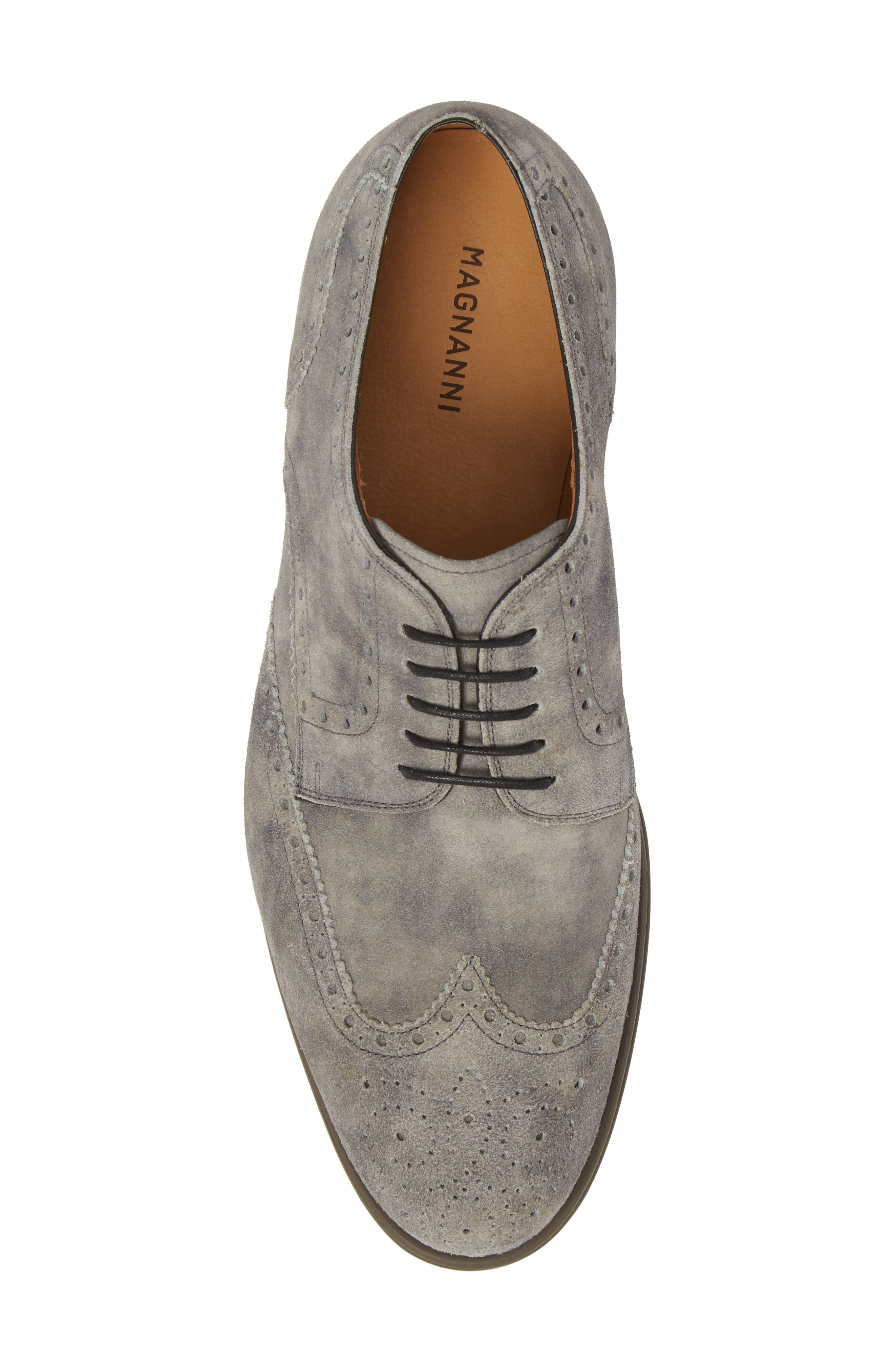 Tormo Wingtip,                             Alternate thumbnail 5, color,                             Grey Leather