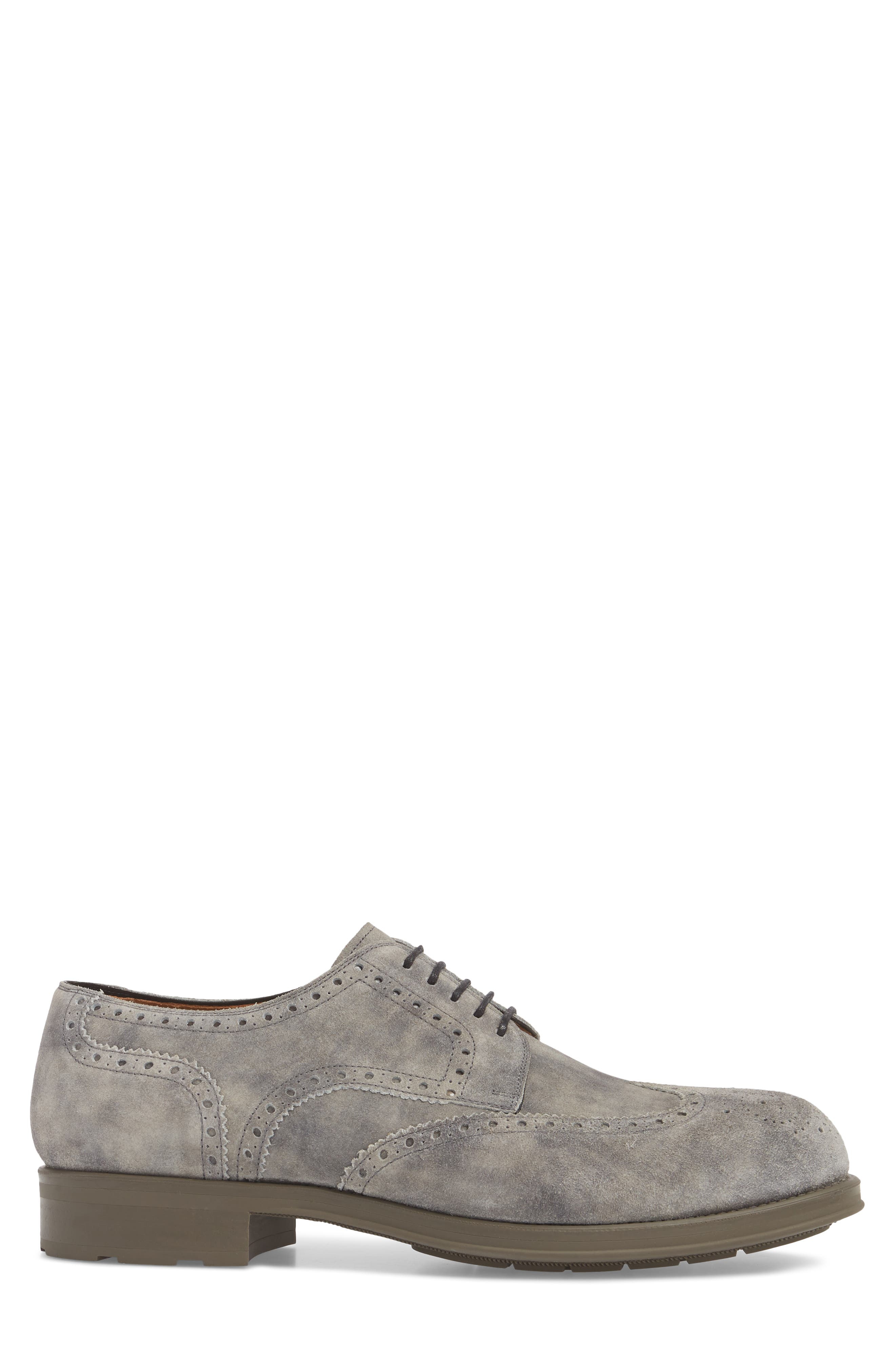 Tormo Wingtip,                             Alternate thumbnail 3, color,                             Grey Leather