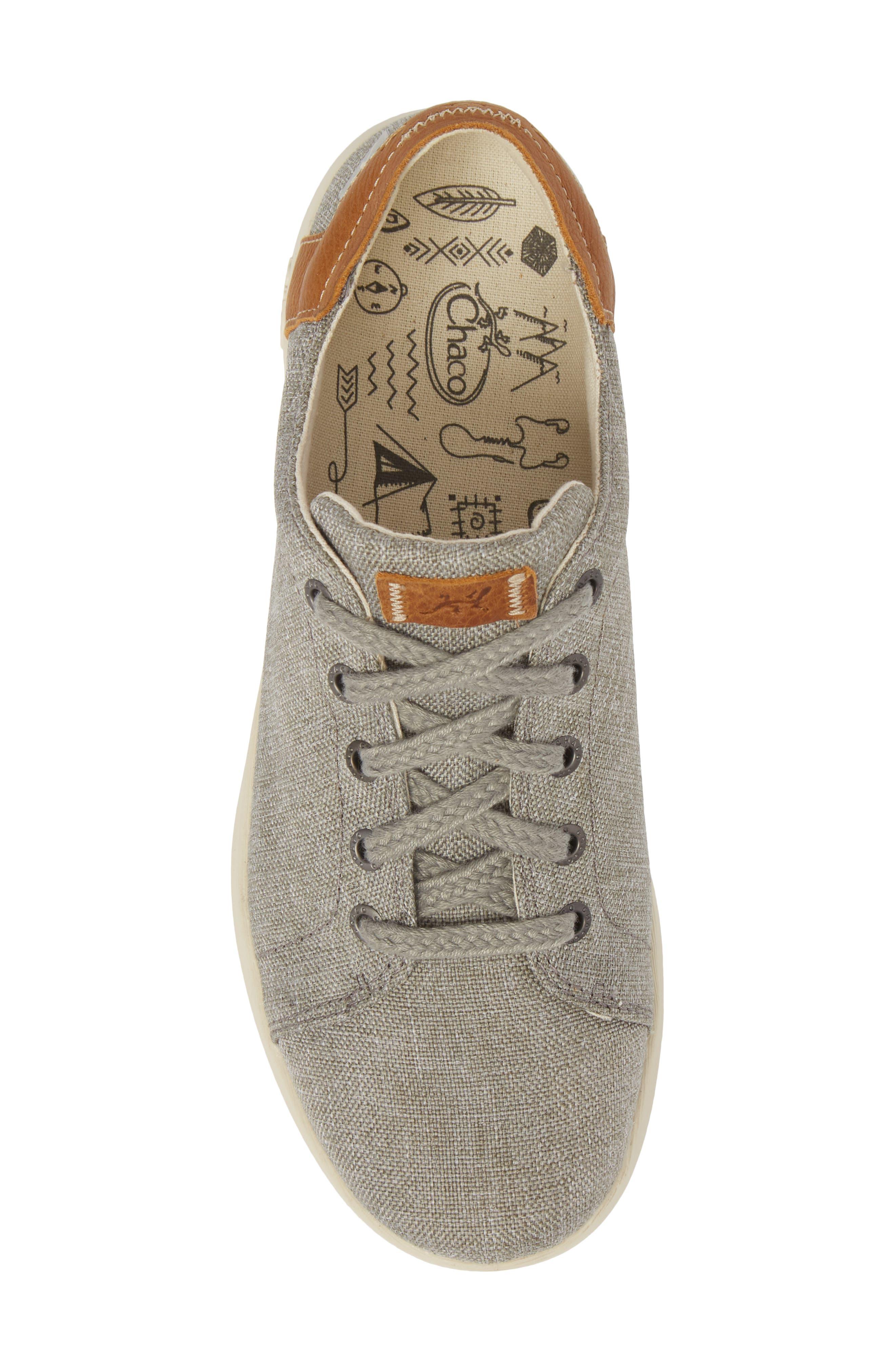 Ionia Sneaker,                             Alternate thumbnail 5, color,                             Gray Canvas
