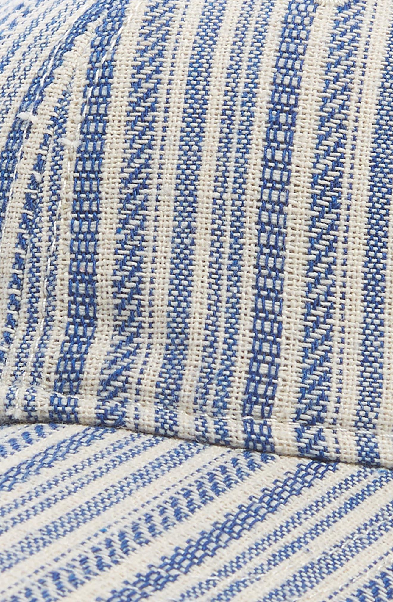 Textured Stripe Baseball Cap,                             Alternate thumbnail 3, color,                             Alpha Blue
