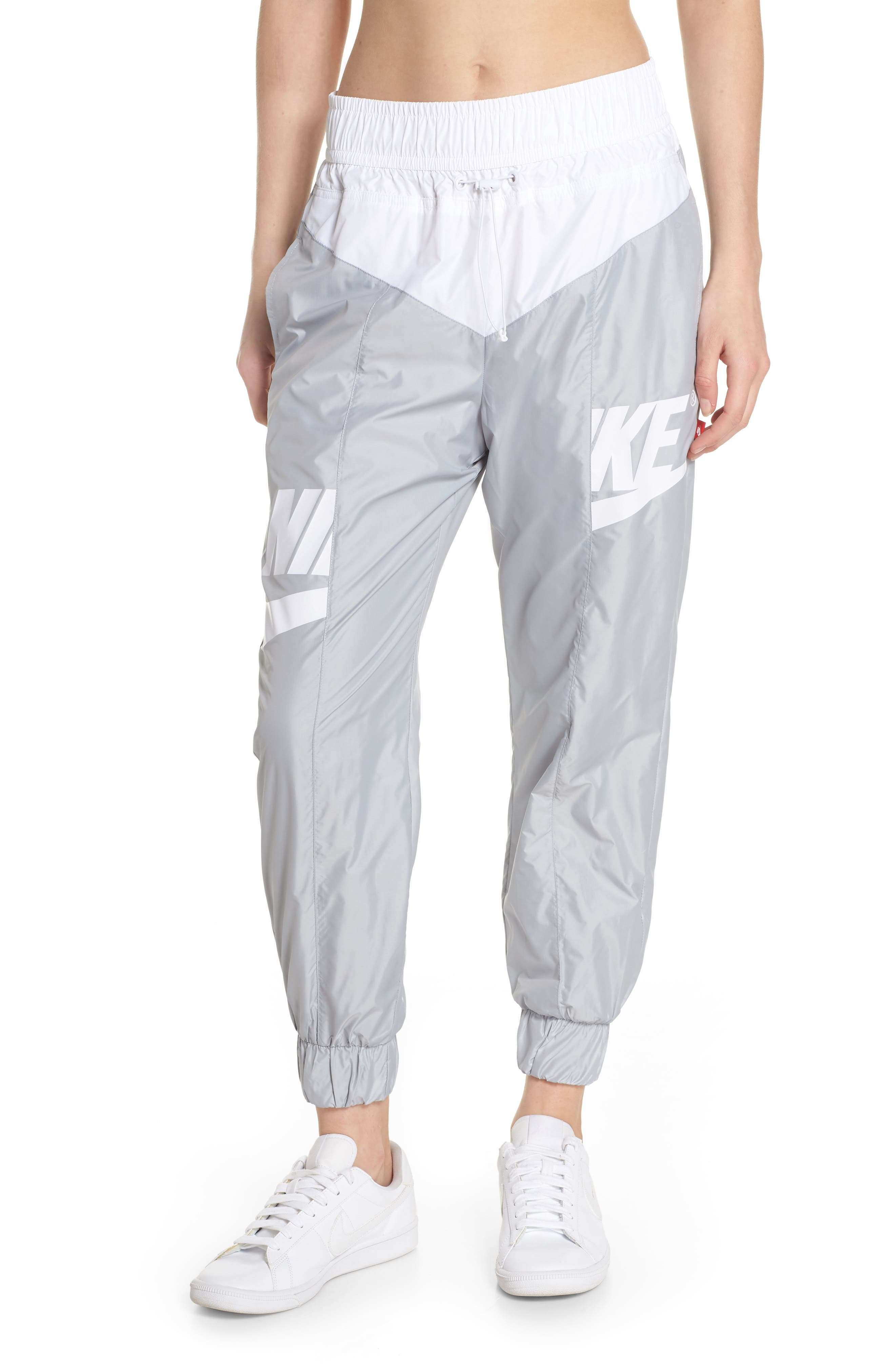Sportswear Windrunner pants,                             Main thumbnail 1, color,                             Wolf Grey/ Summit White