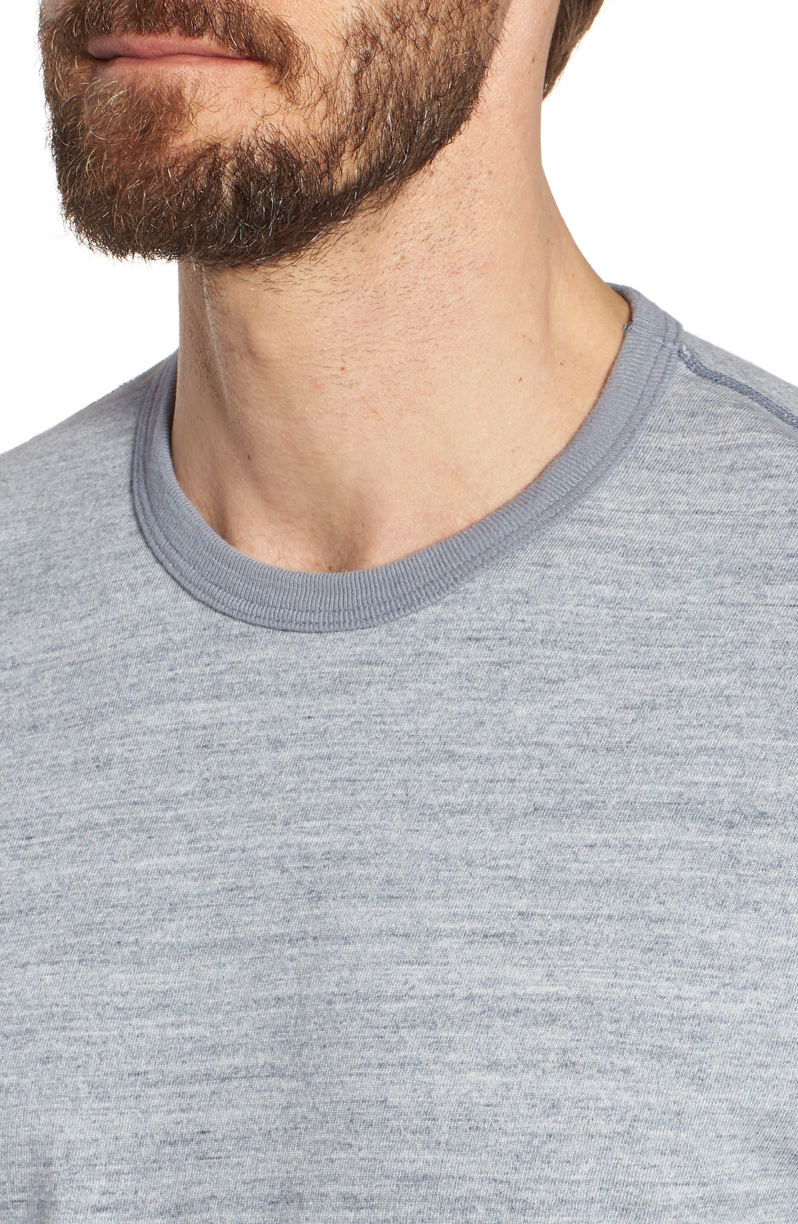 Regular Fit Top Dyed Crewneck T-Shirt,                             Alternate thumbnail 4, color,                             Grey