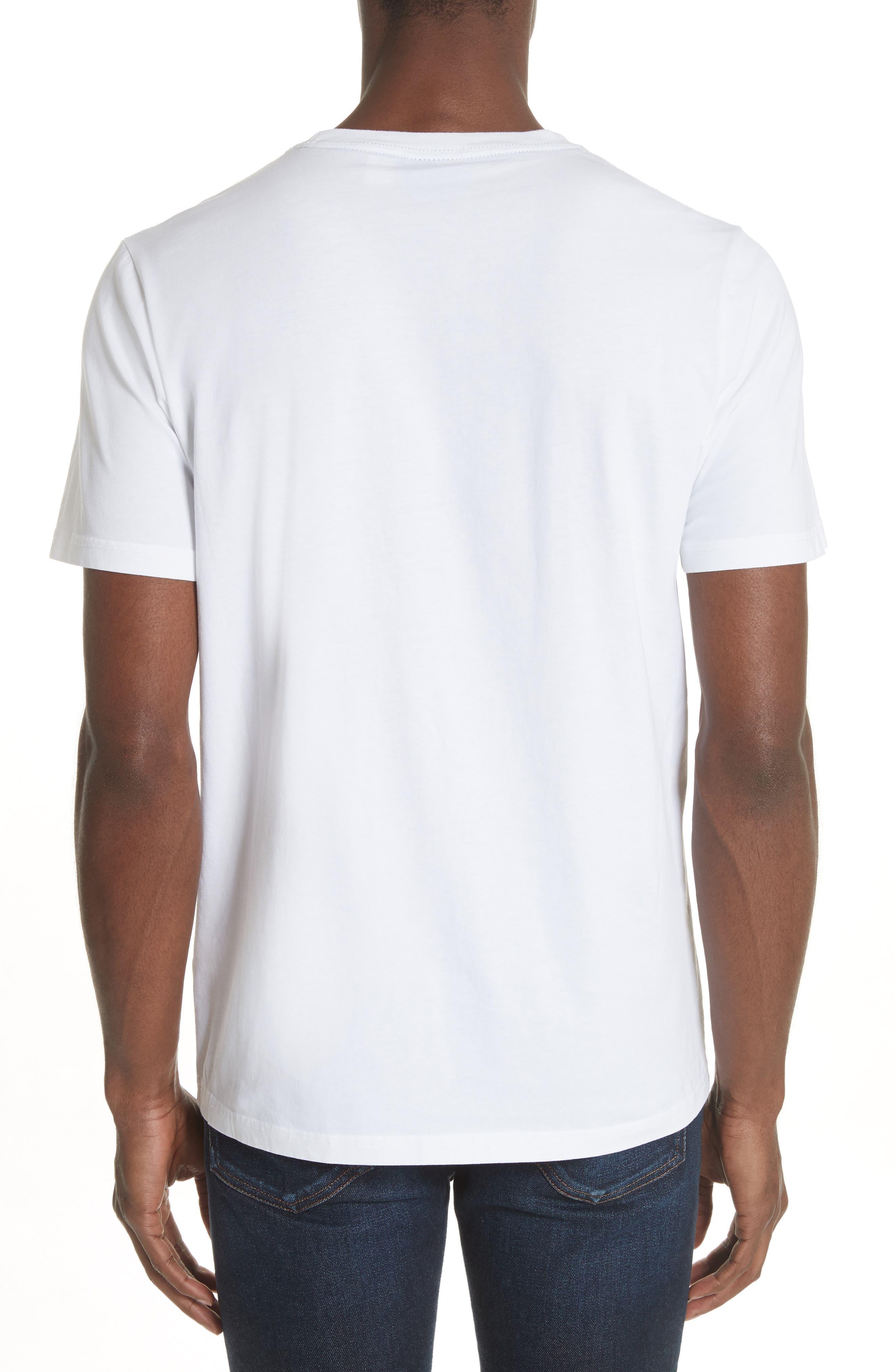 Dino Print Pocket T-Shirt,                             Alternate thumbnail 2, color,                             White
