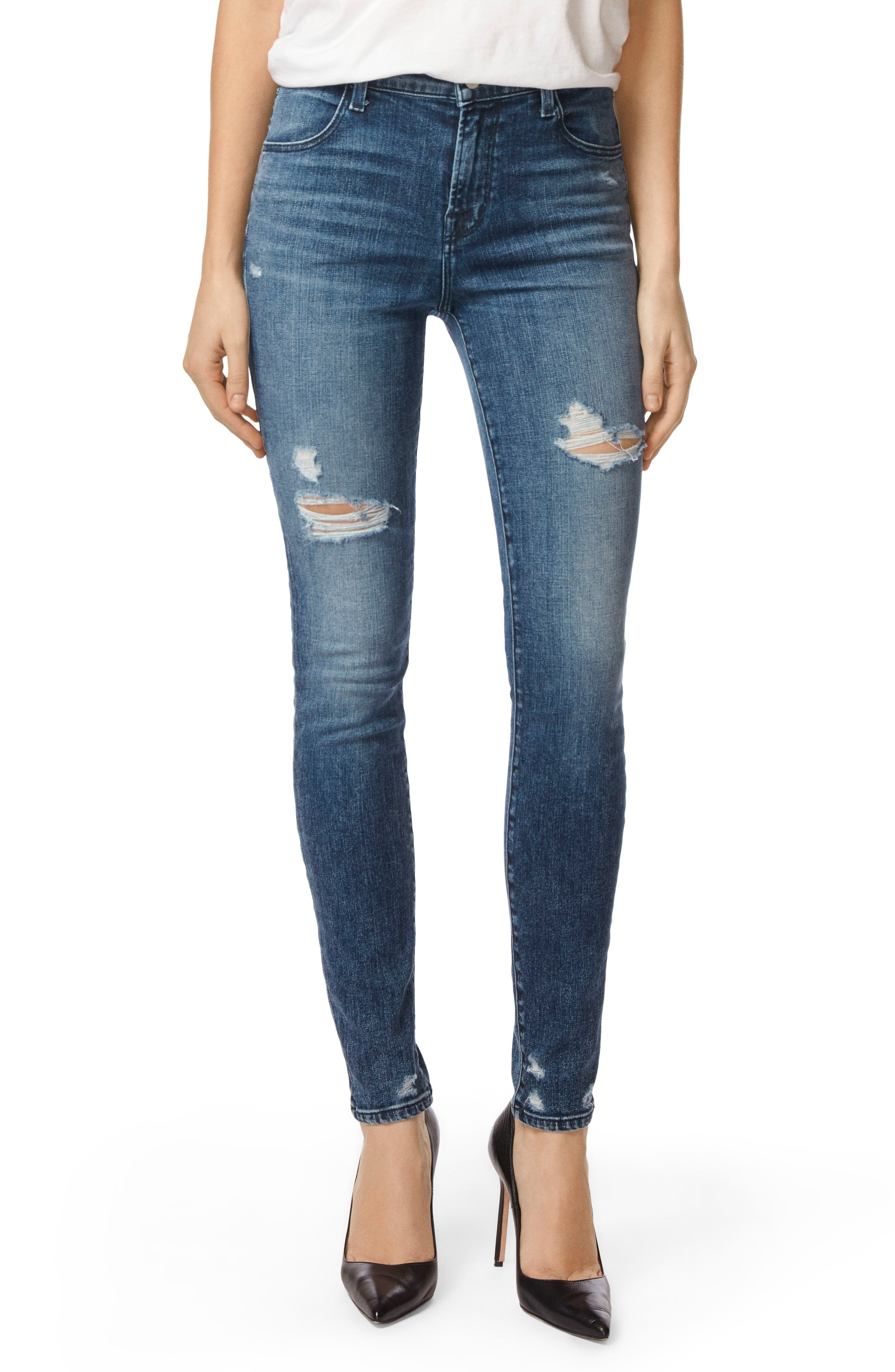 Maria High Waist Skinny Jeans,                         Main,                         color, Moonstruck