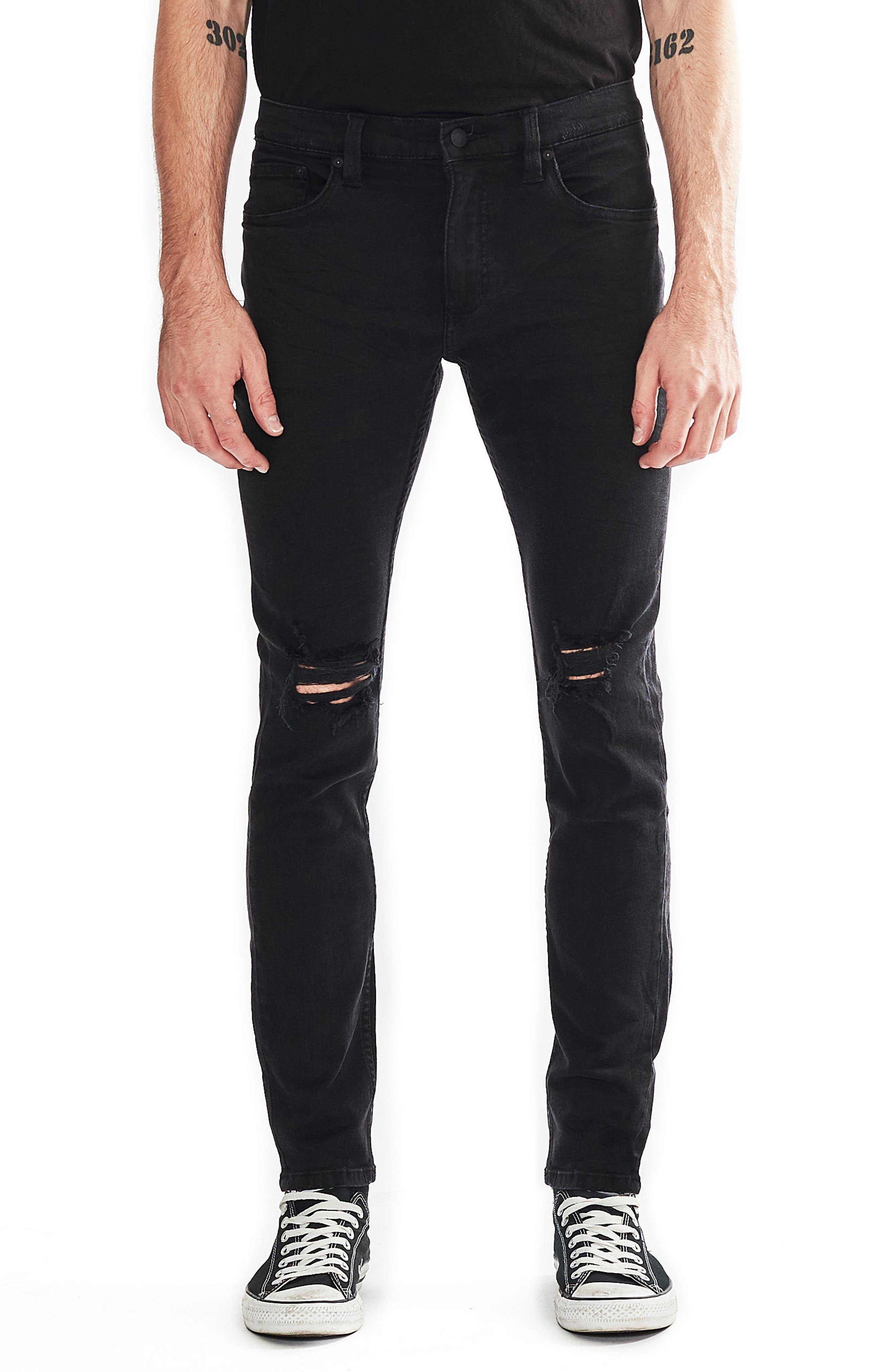 Stinger Skinny Fit Jeans,                             Main thumbnail 1, color,                             Black Hole