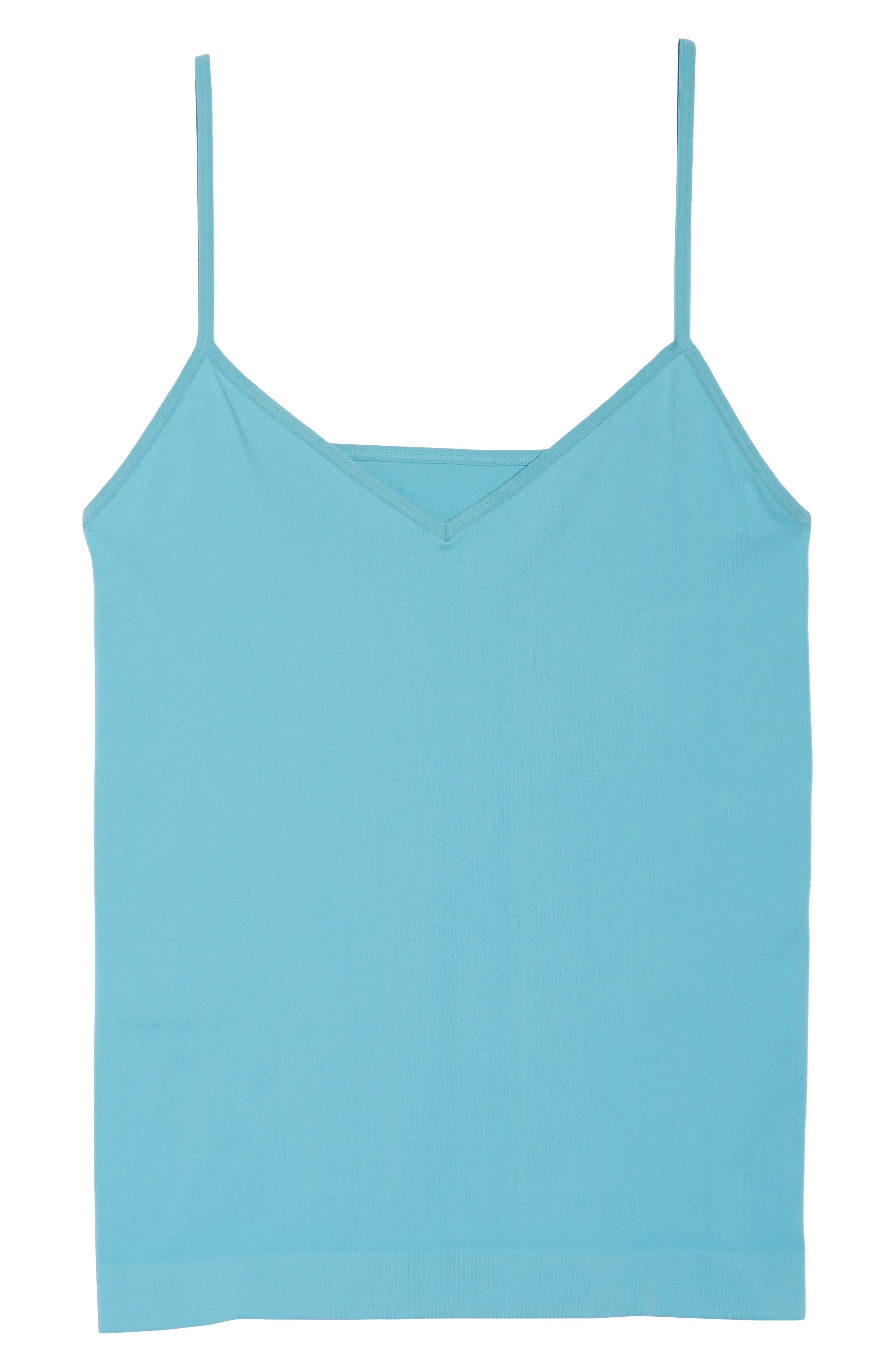 Seamless Two-Way Camisole,                             Alternate thumbnail 7, color,                             Teal Sicily