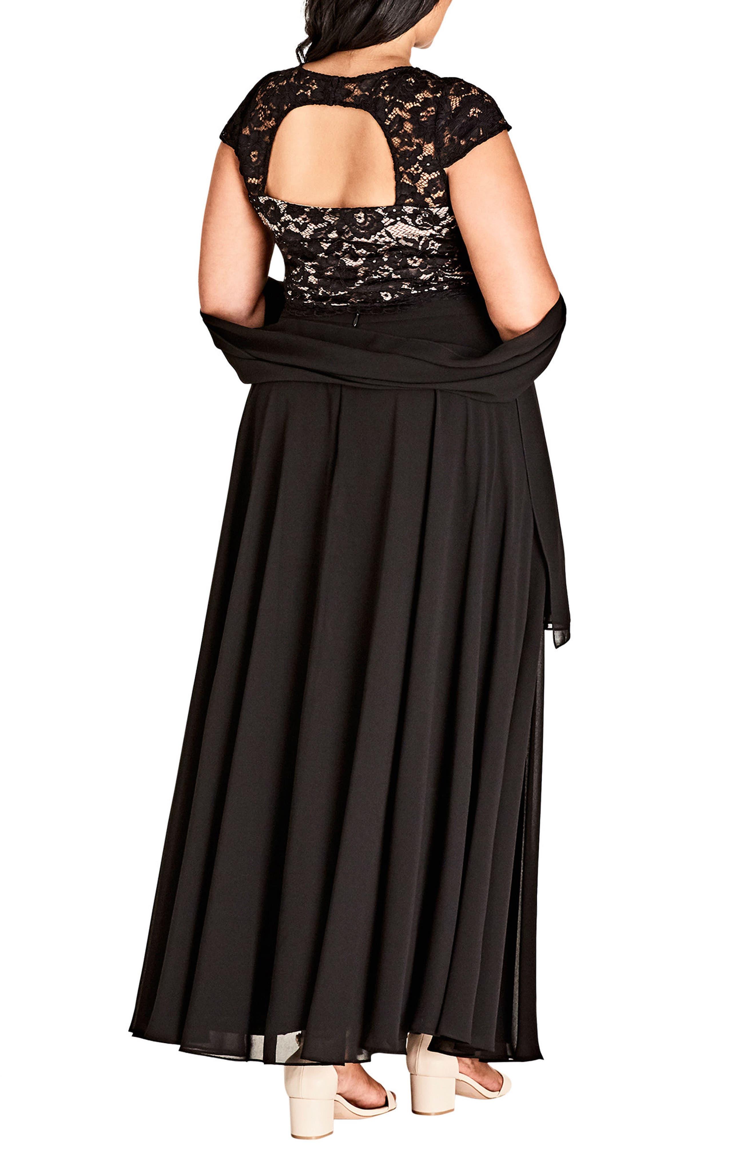 Alternate Image 2  - City Chic Elegance Maxi Dress Set (Plus Size)