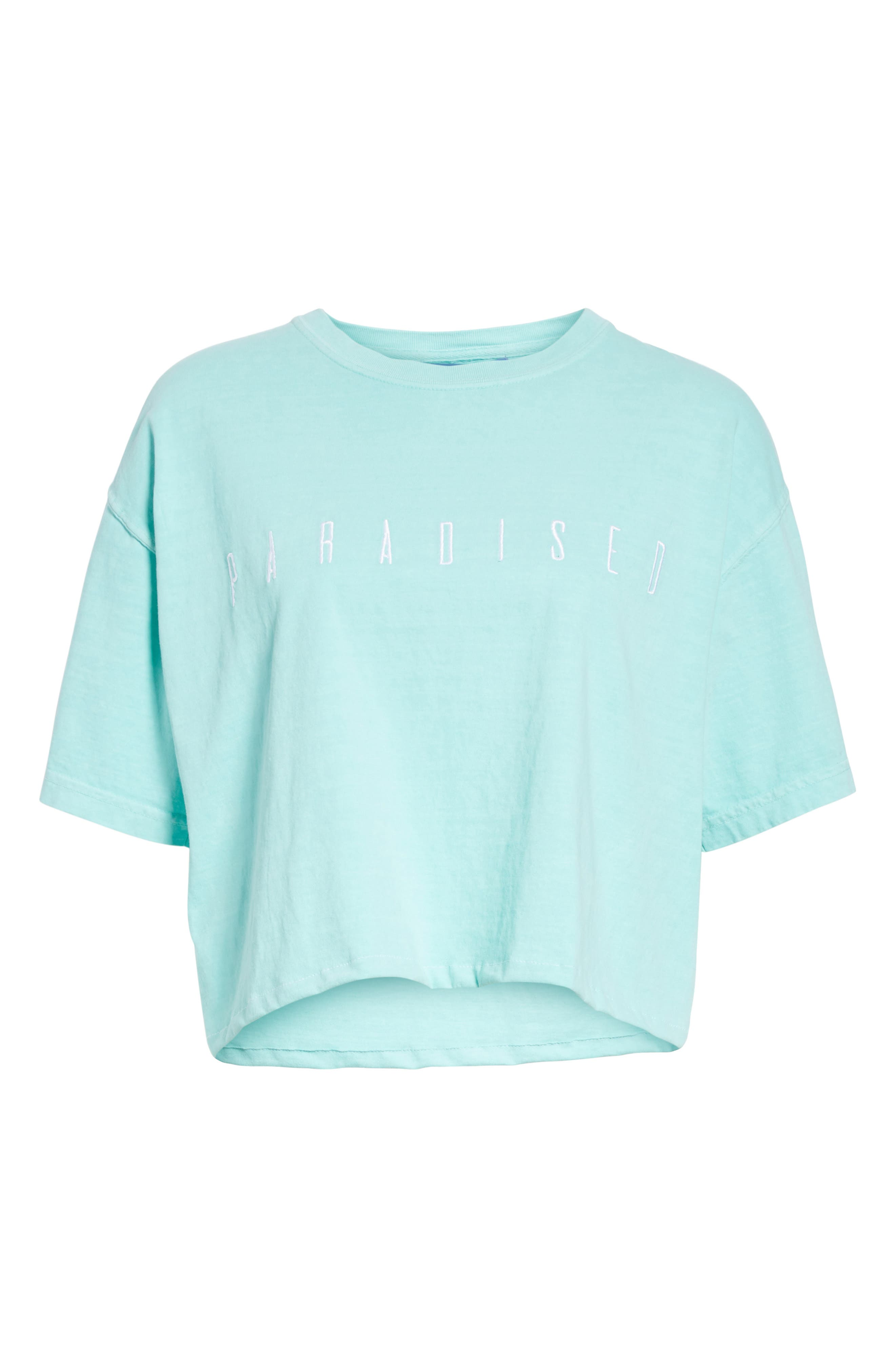 Logo Embroidered Boxy Tee,                             Alternate thumbnail 6, color,                             Mint