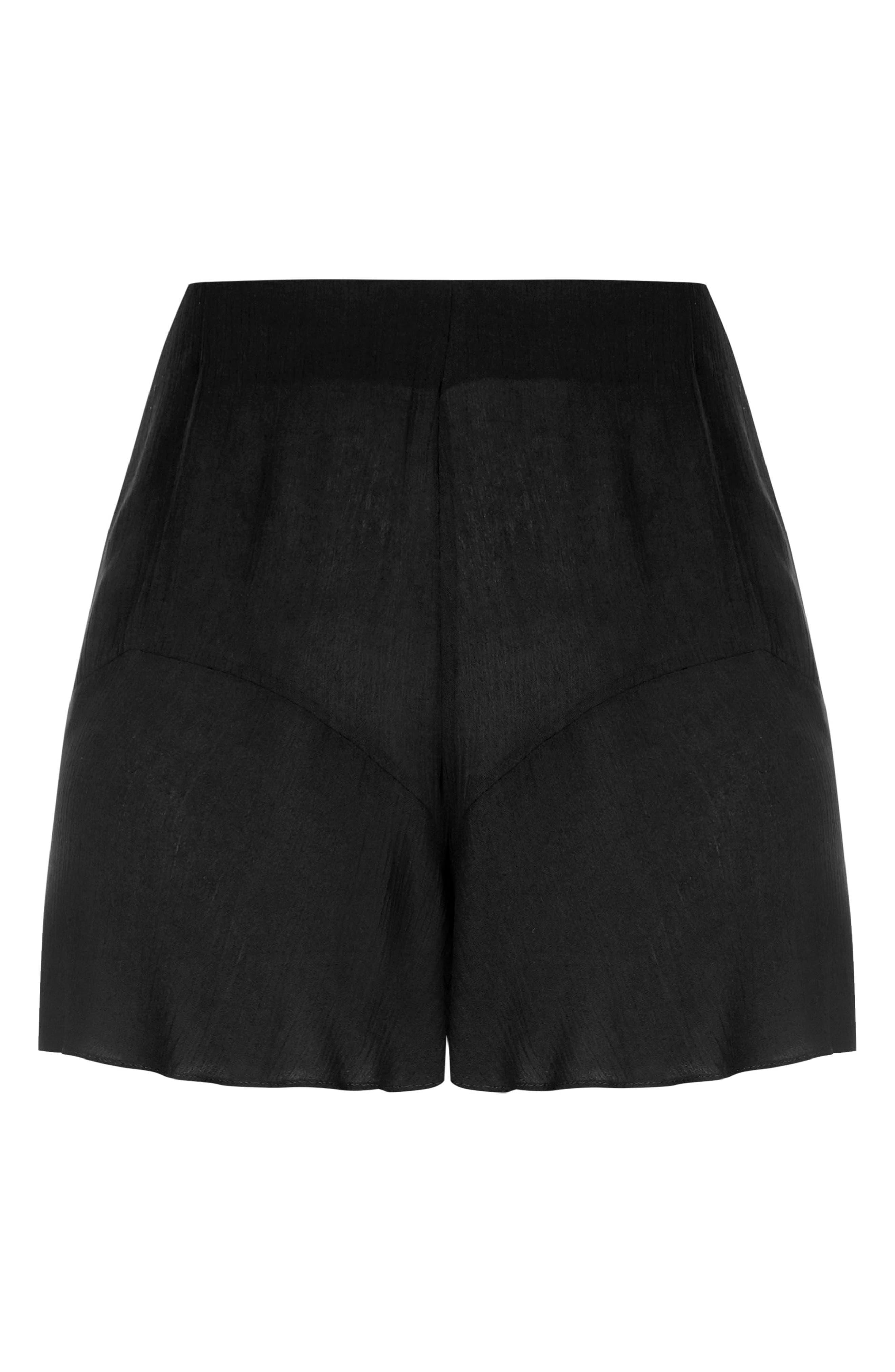 Sweet Frill Shorts,                             Alternate thumbnail 3, color,                             Black
