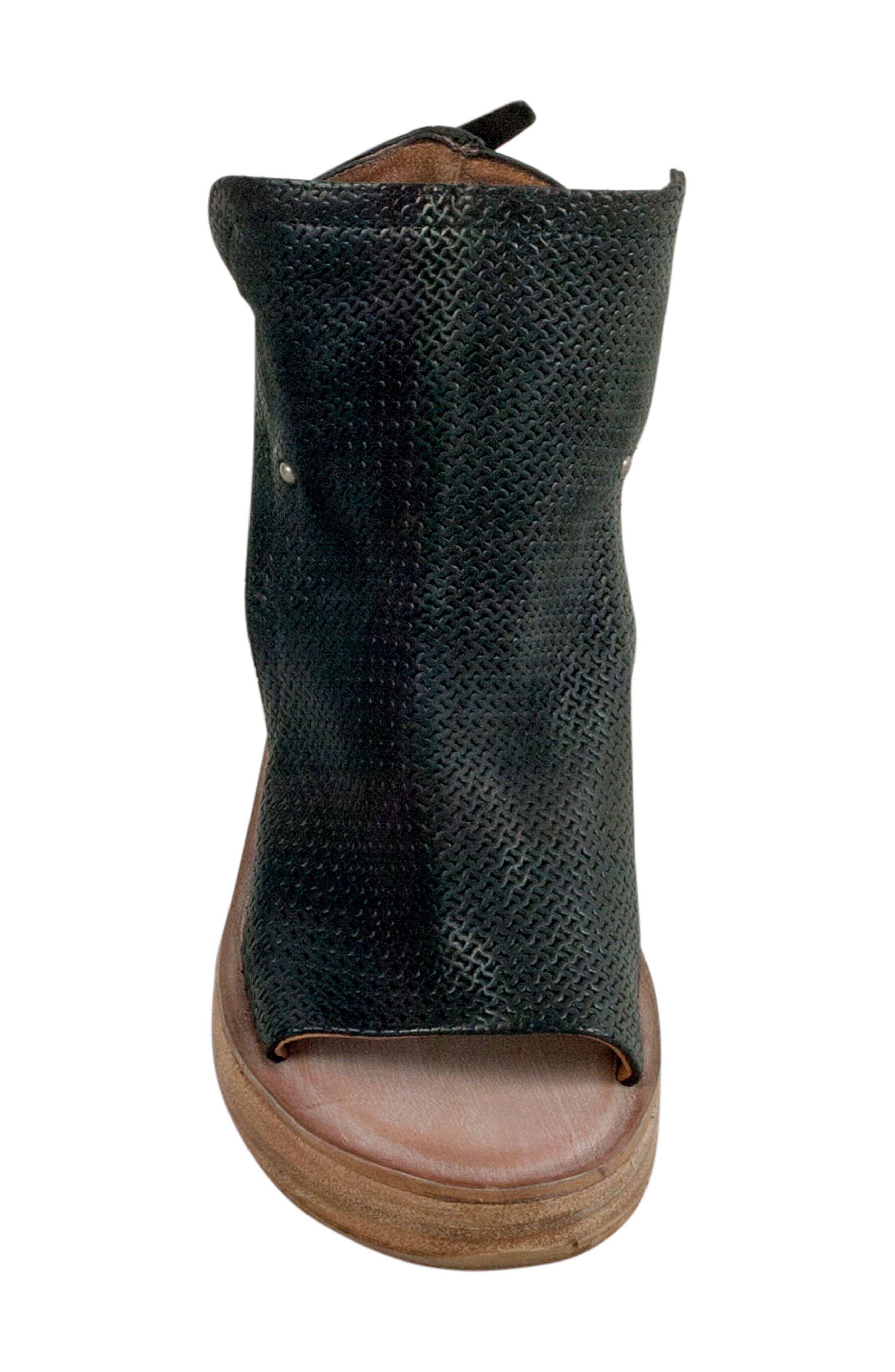 Nathan Platform Wedge Sandal,                             Alternate thumbnail 5, color,                             Black
