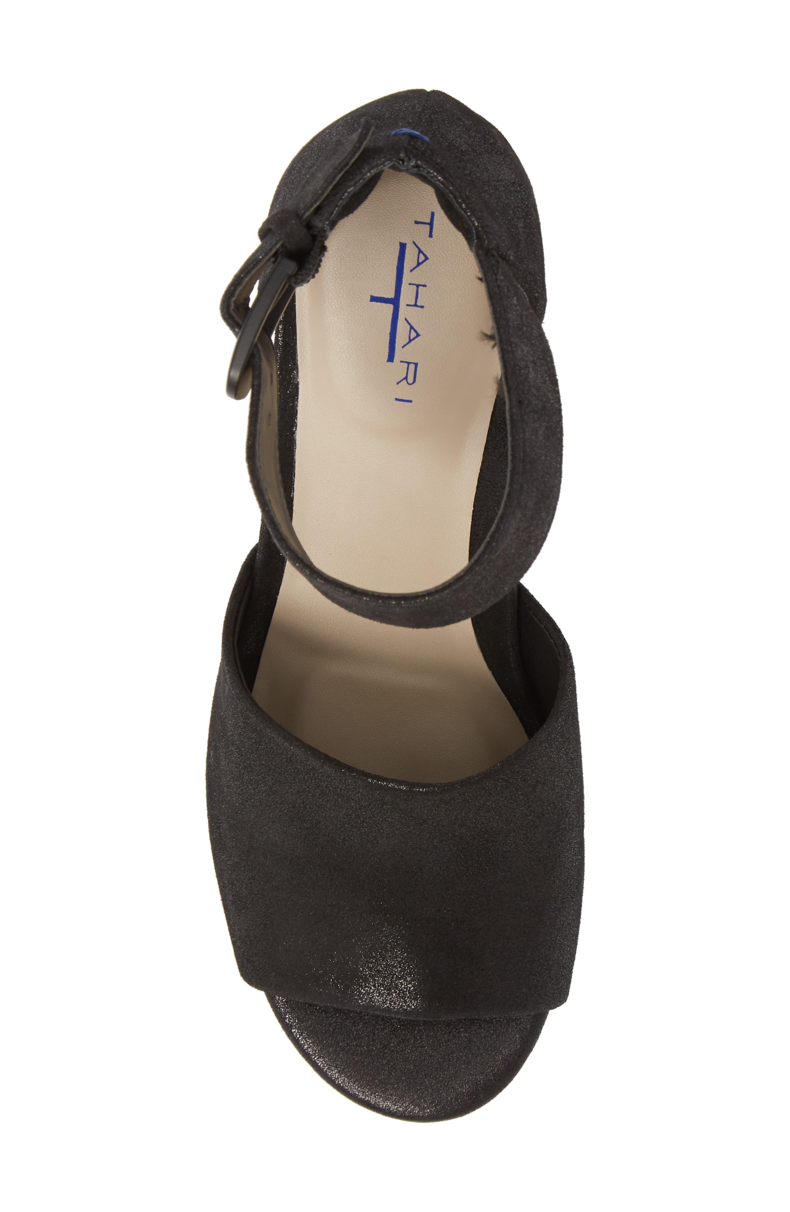 Piper Sandal,                             Alternate thumbnail 5, color,                             Black Suede