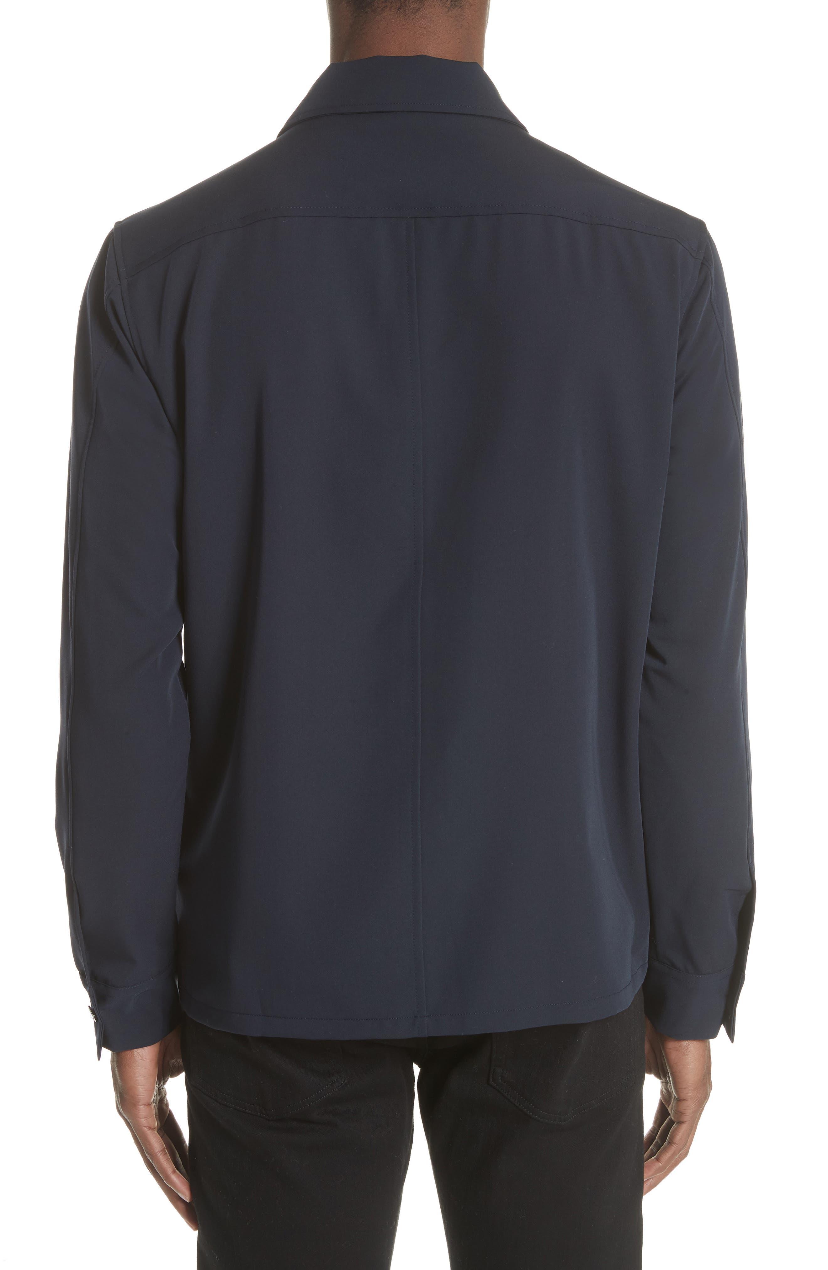 Gabardine Zip Shirt Jacket,                             Alternate thumbnail 2, color,                             Navy
