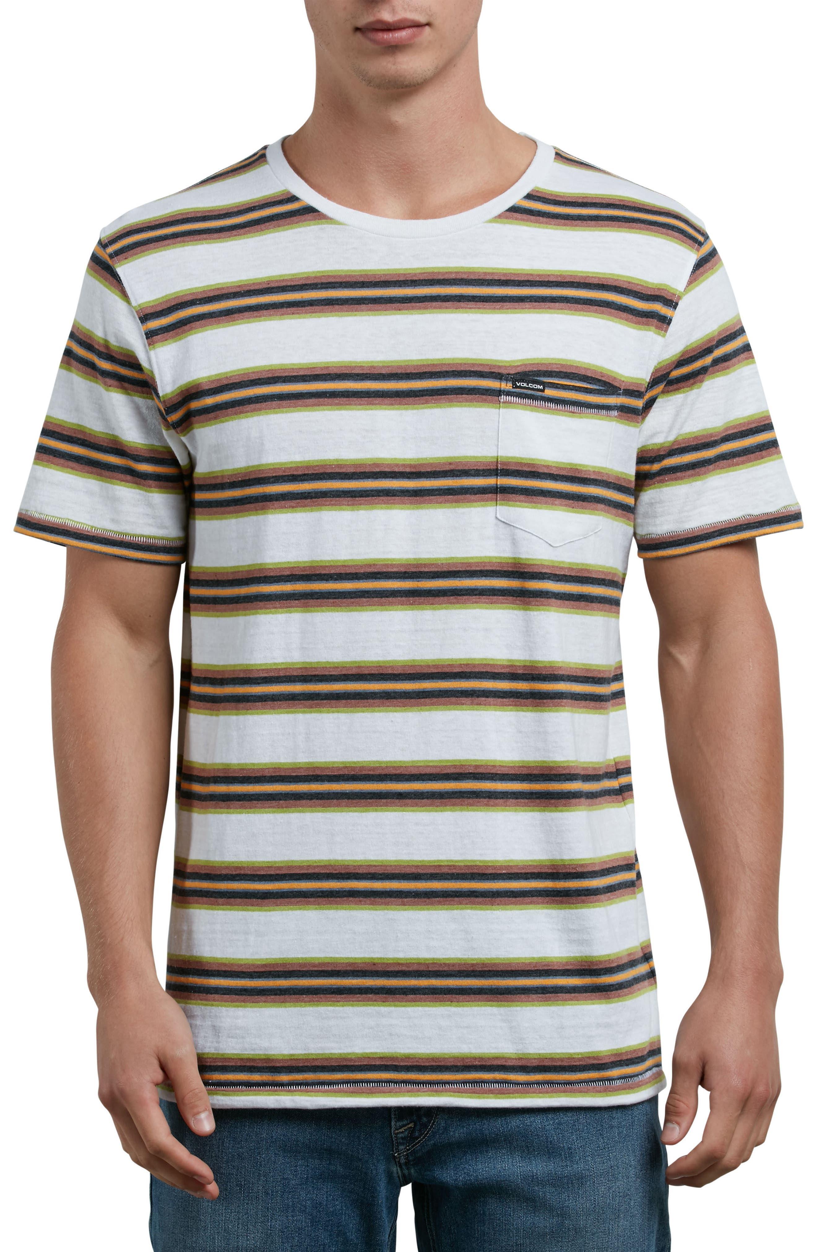 Belfast Stripe Pocket T-Shirt,                             Main thumbnail 1, color,                             White