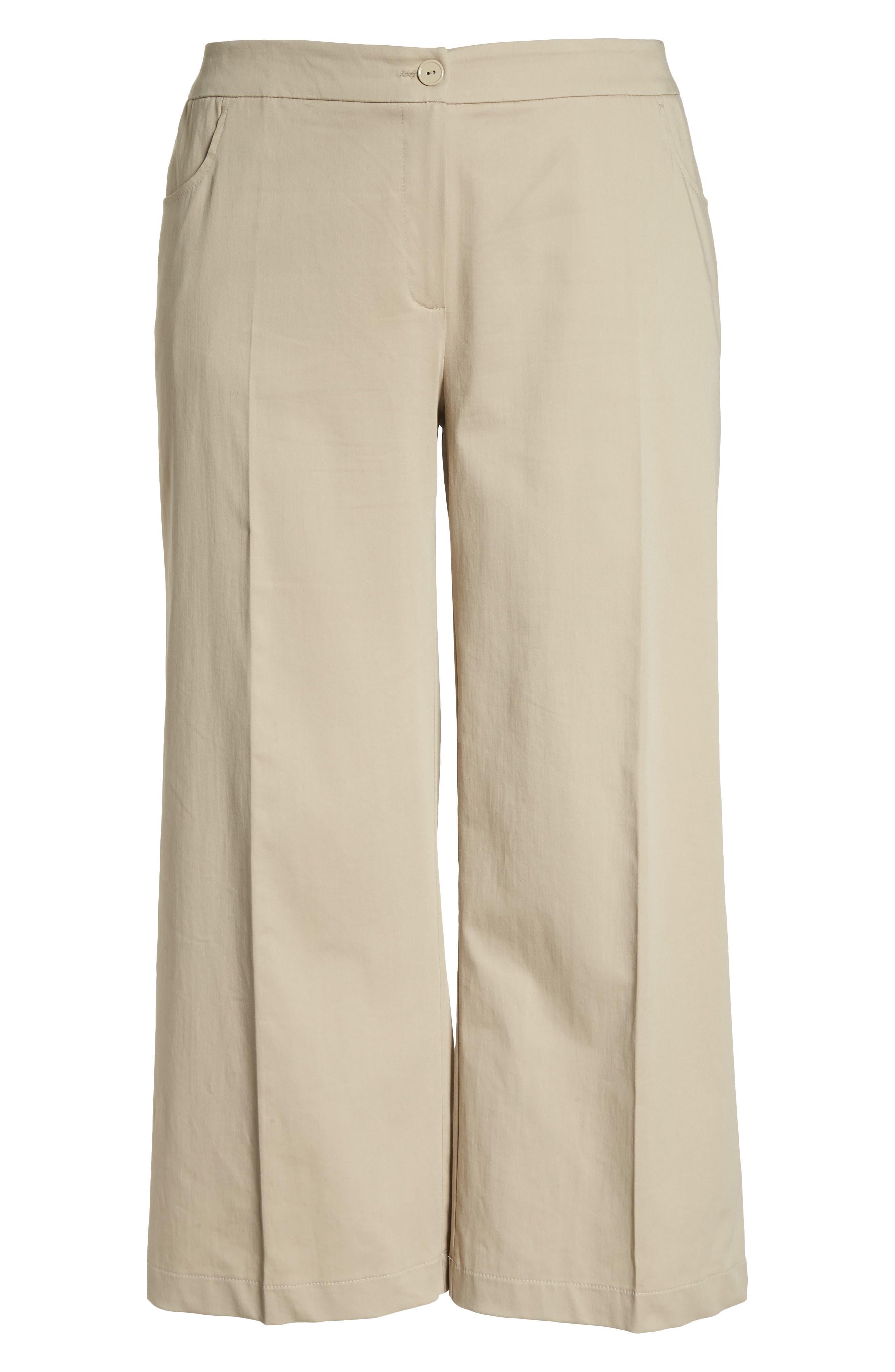 Crop Pants,                             Alternate thumbnail 6, color,                             Dark Beige