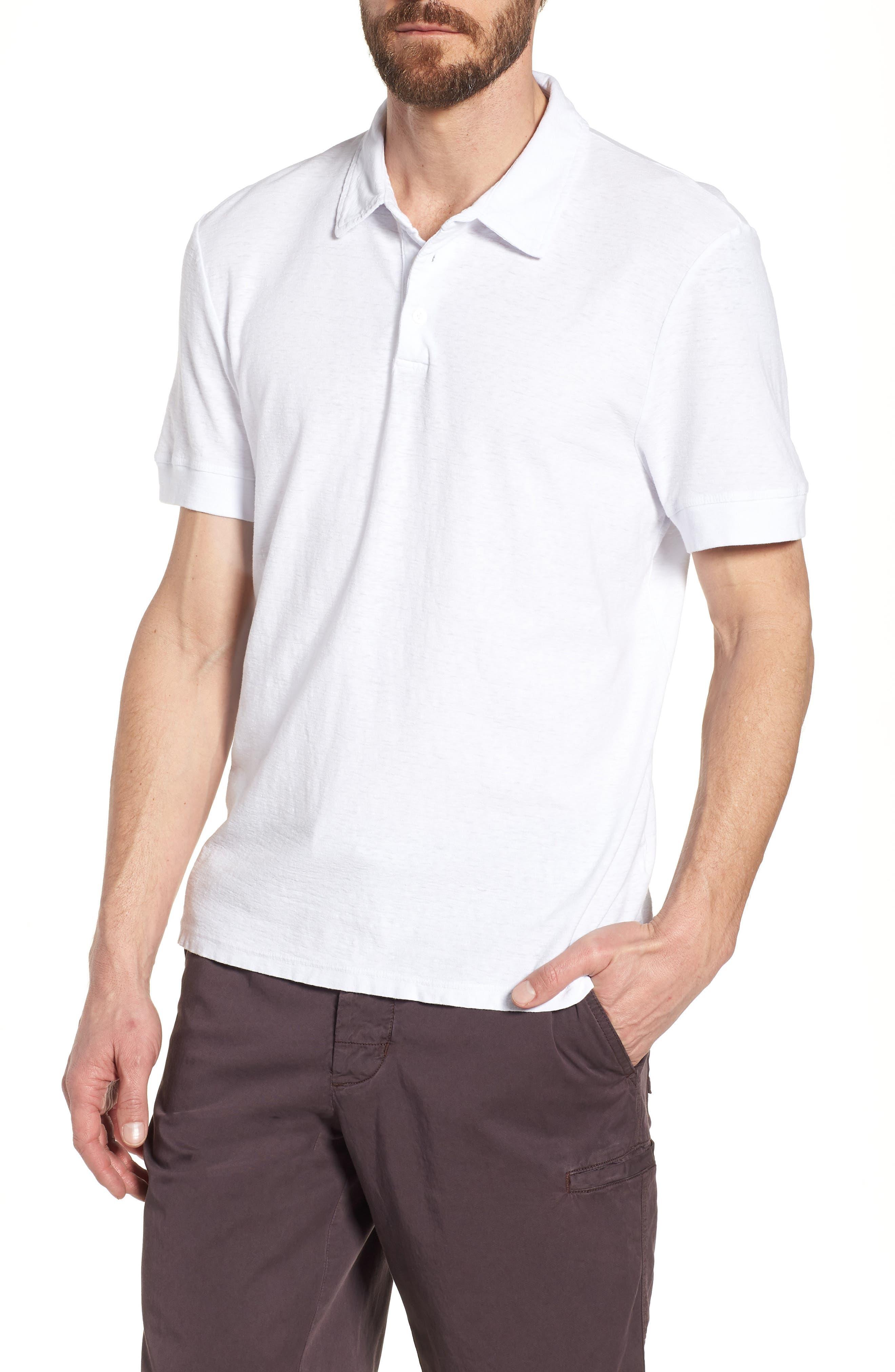 Regular Fit Slub Polo,                             Main thumbnail 1, color,                             White