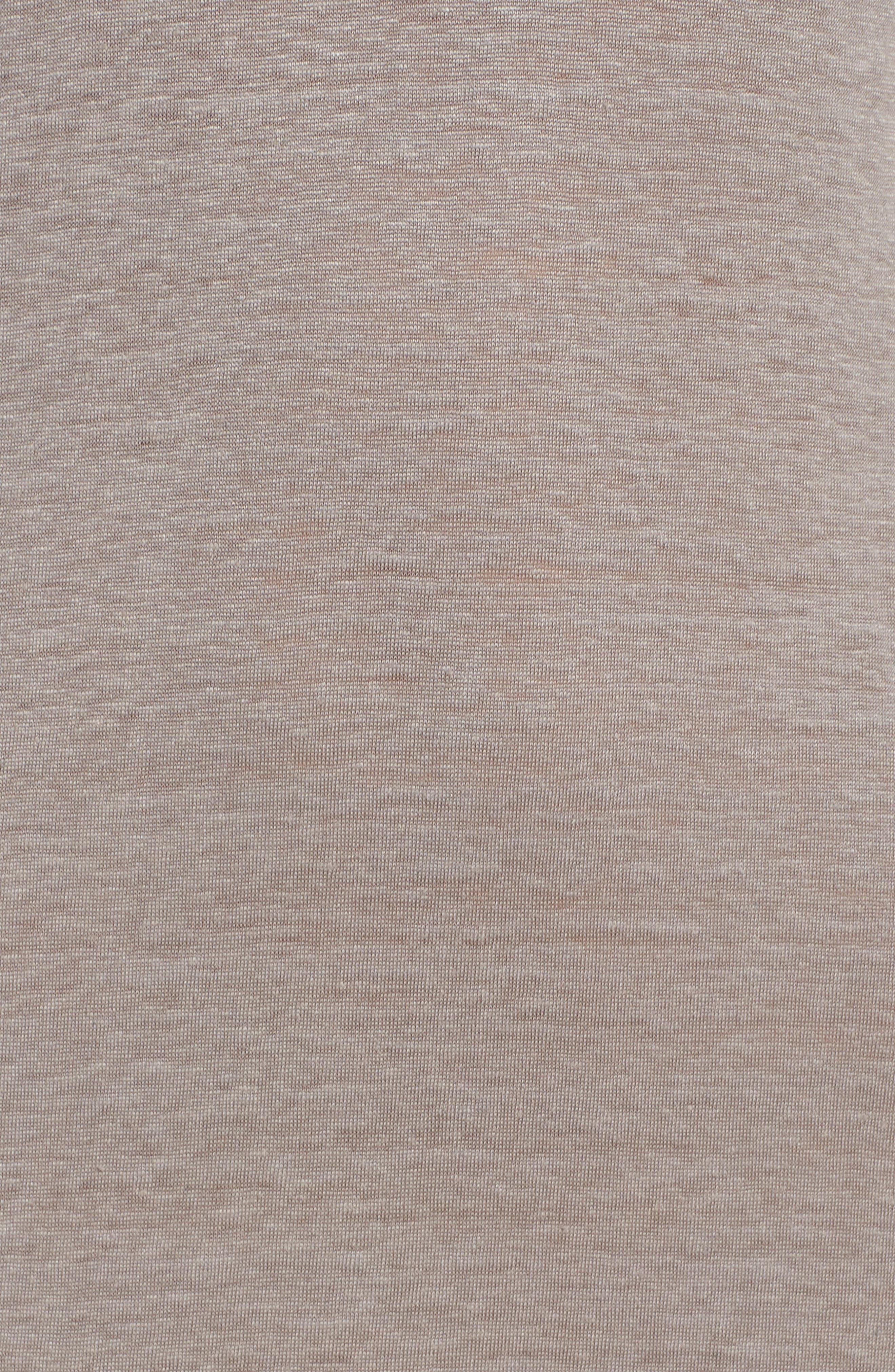 Lace-up Shoulder Jersey Midi Dress,                             Alternate thumbnail 6, color,                             Grey