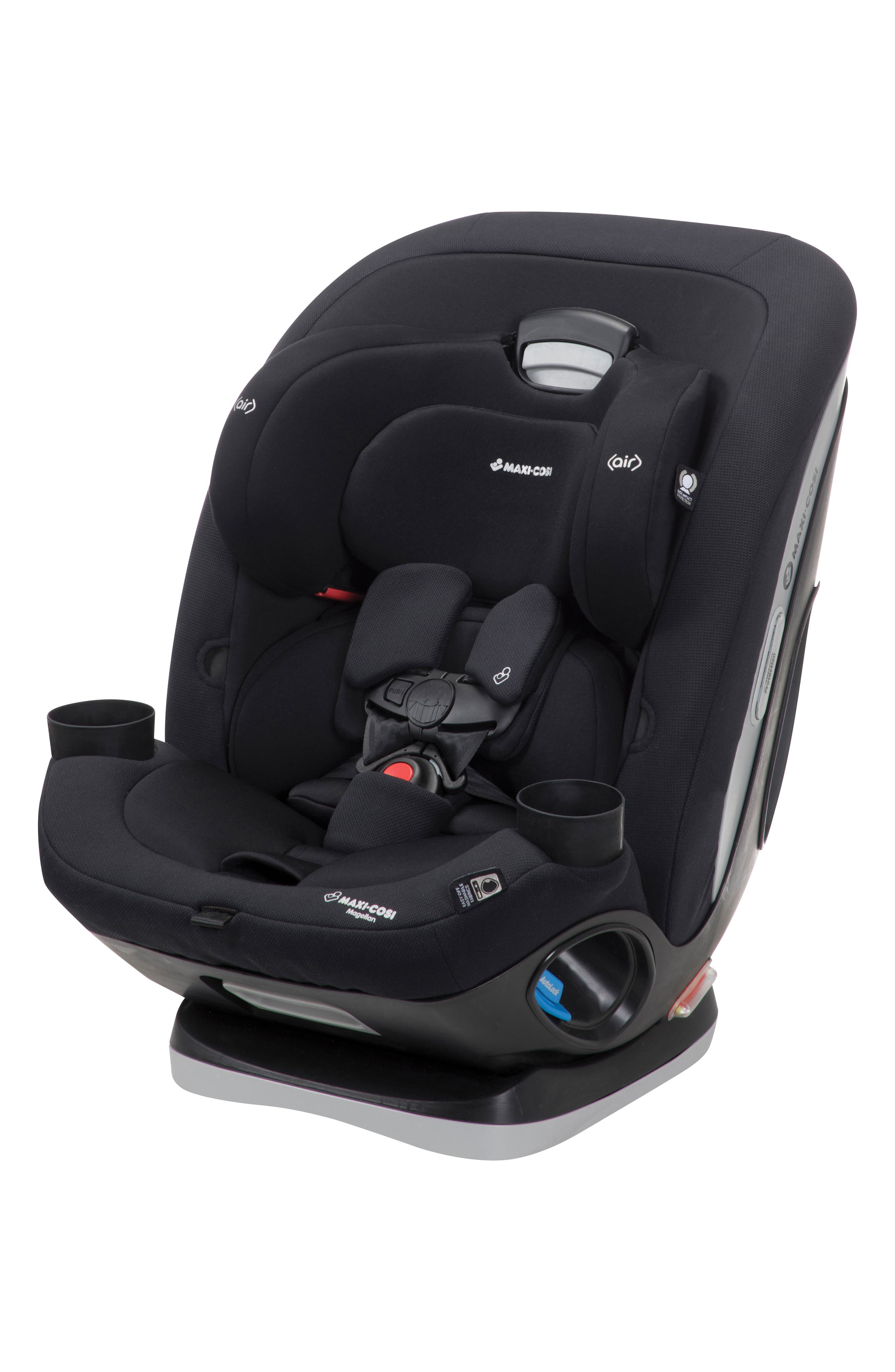 Magellan 2018 5-in-1 Convertible Car Seat,                             Alternate thumbnail 4, color,                             Night Black