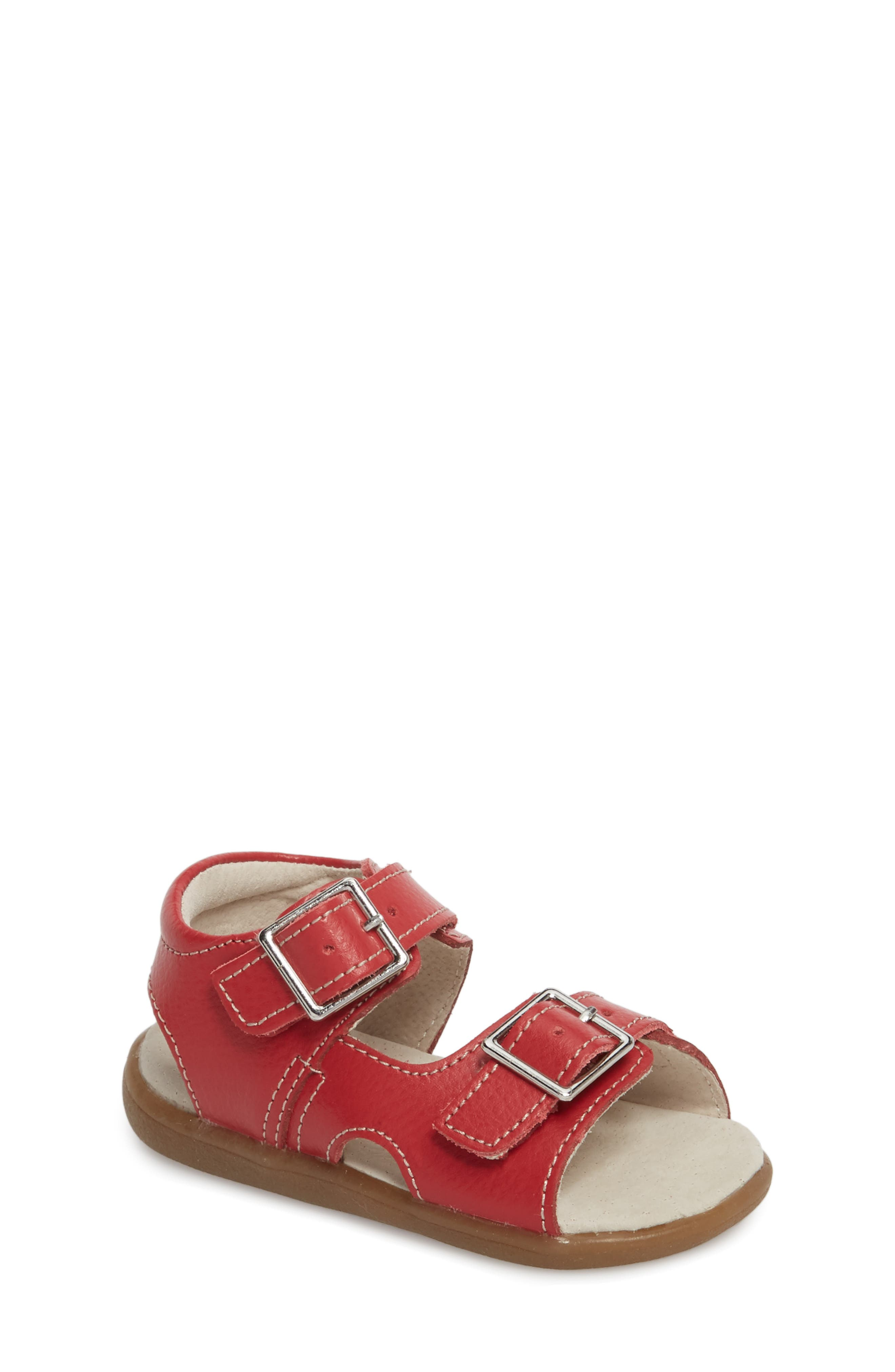 Jackson Sandal,                         Main,                         color, Red