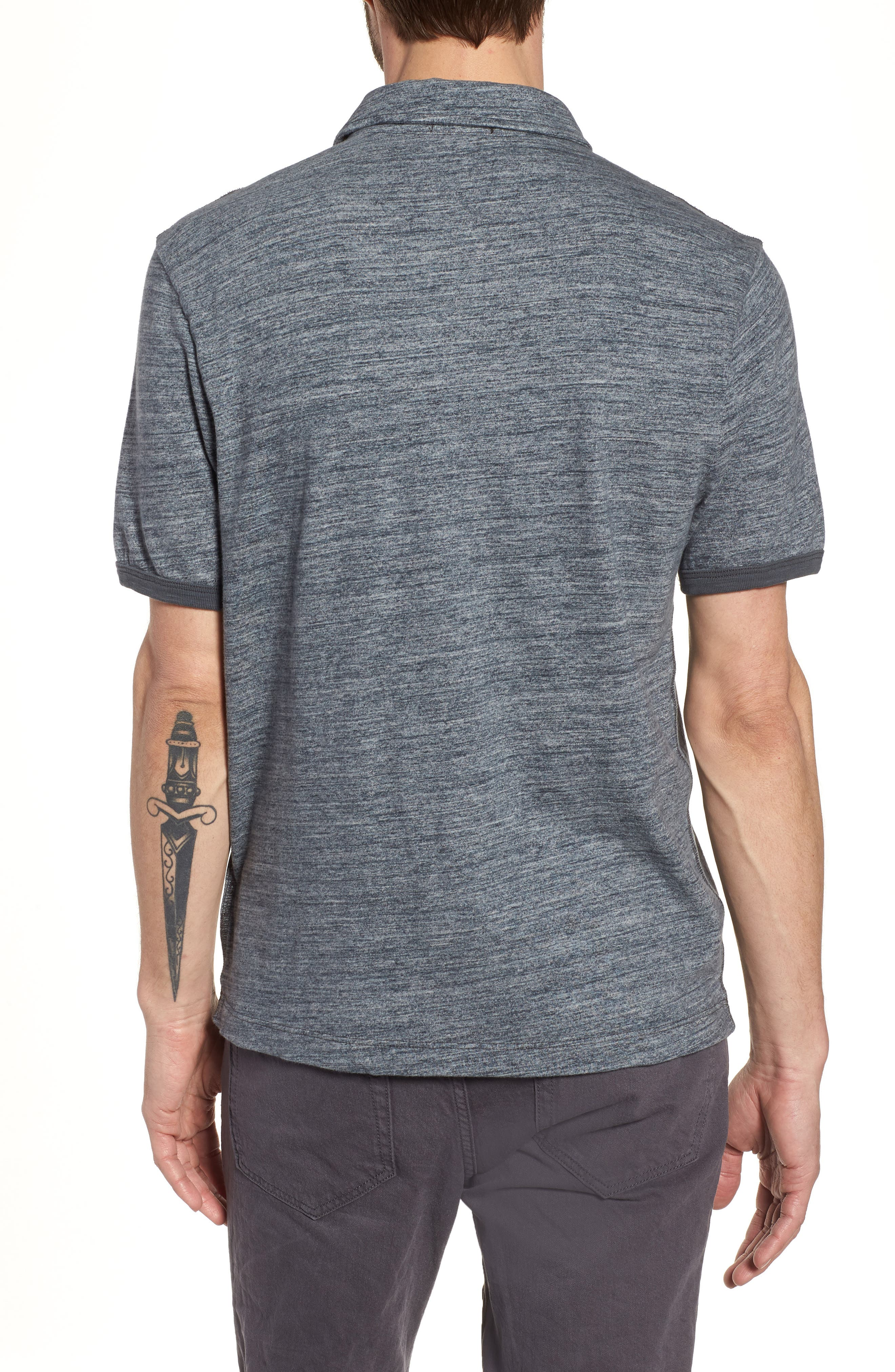 Regular Fit Top Dyed Polo,                             Alternate thumbnail 2, color,                             Grey