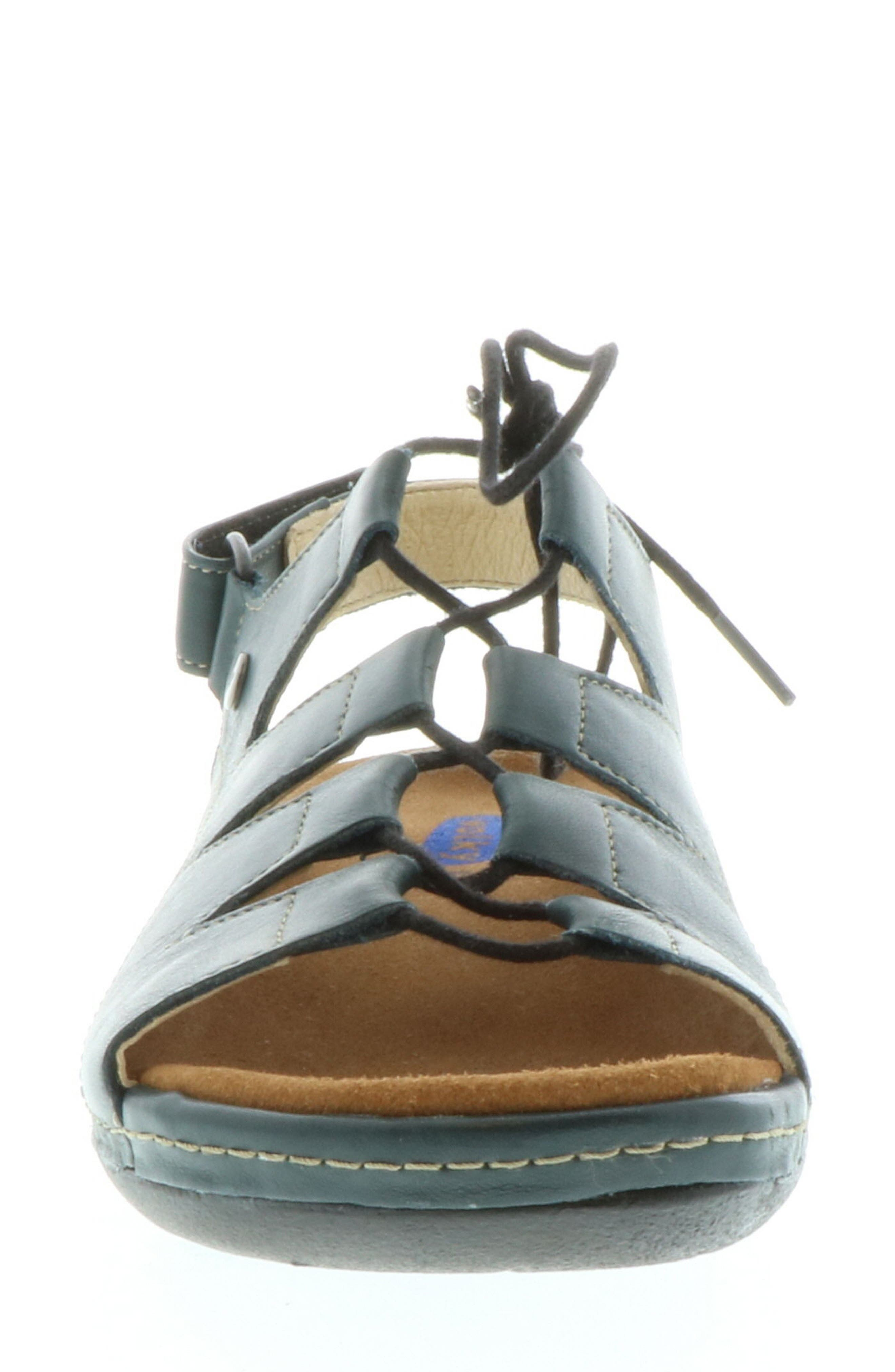 Kite Lace-Up Sandal,                             Alternate thumbnail 3, color,                             Navy Leather