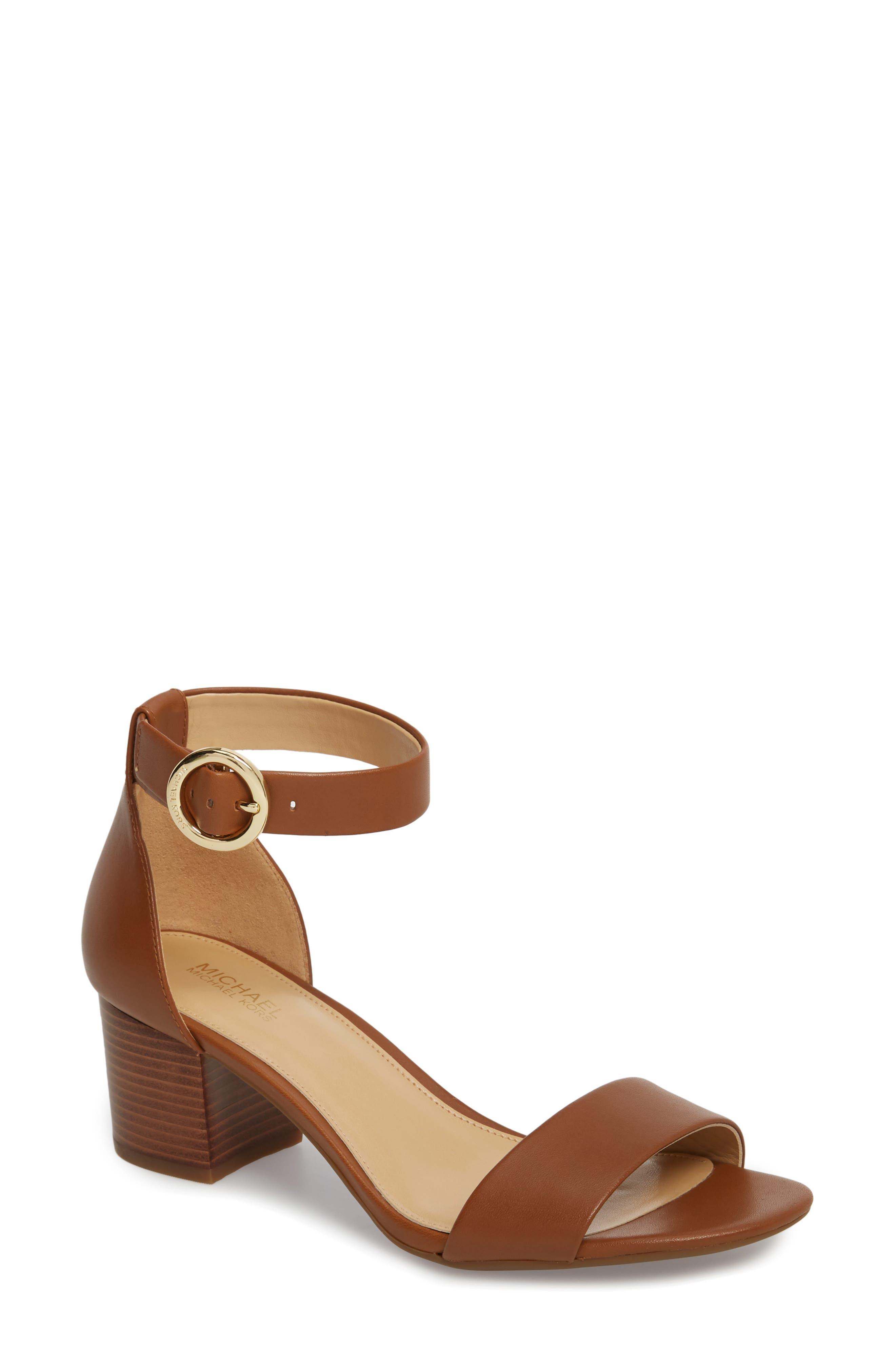Lena Flex Mid, Luggage Vachetta/Stacked Heel