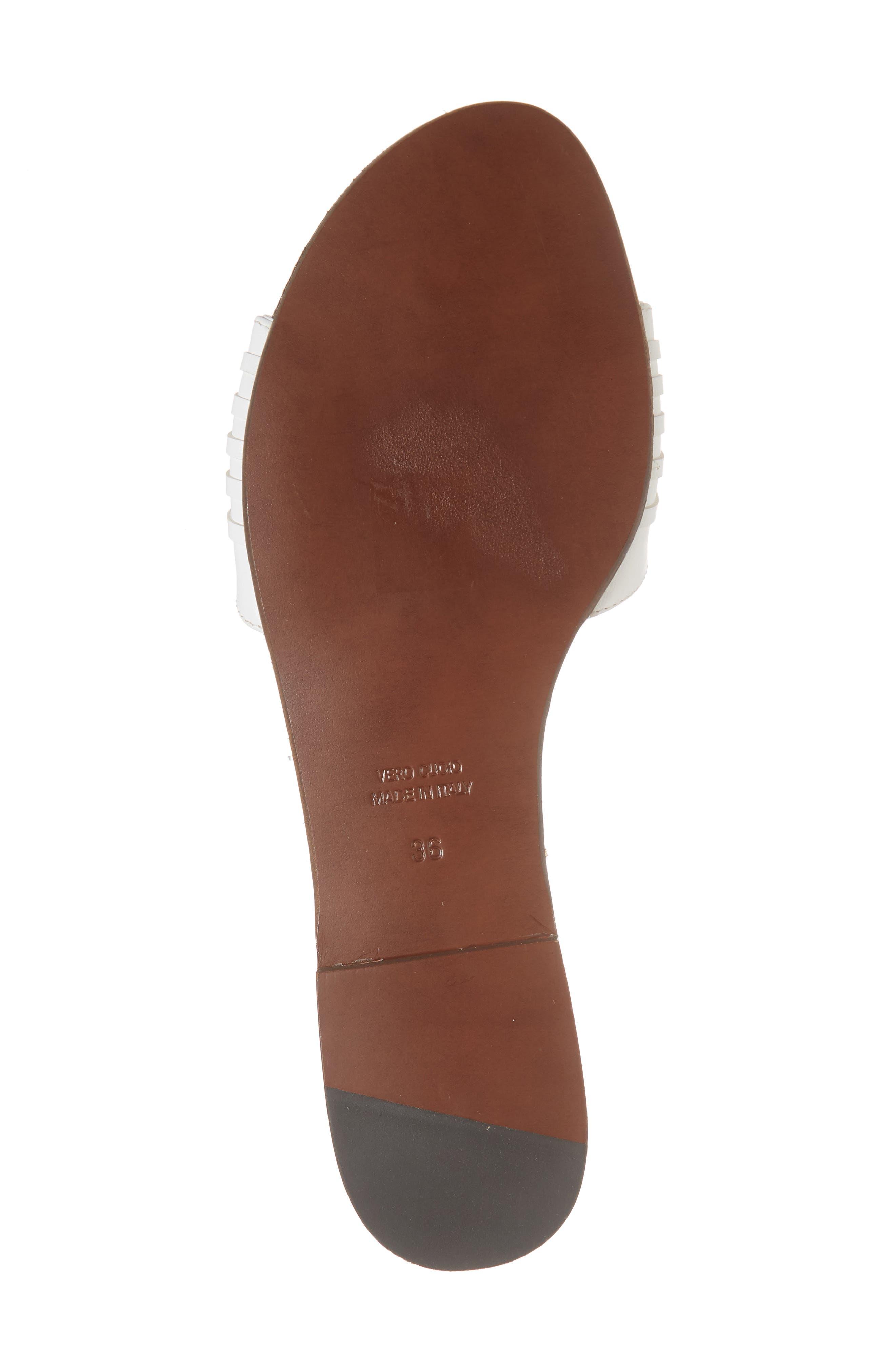 Faven Woven Slide Sandal,                             Alternate thumbnail 6, color,                             White