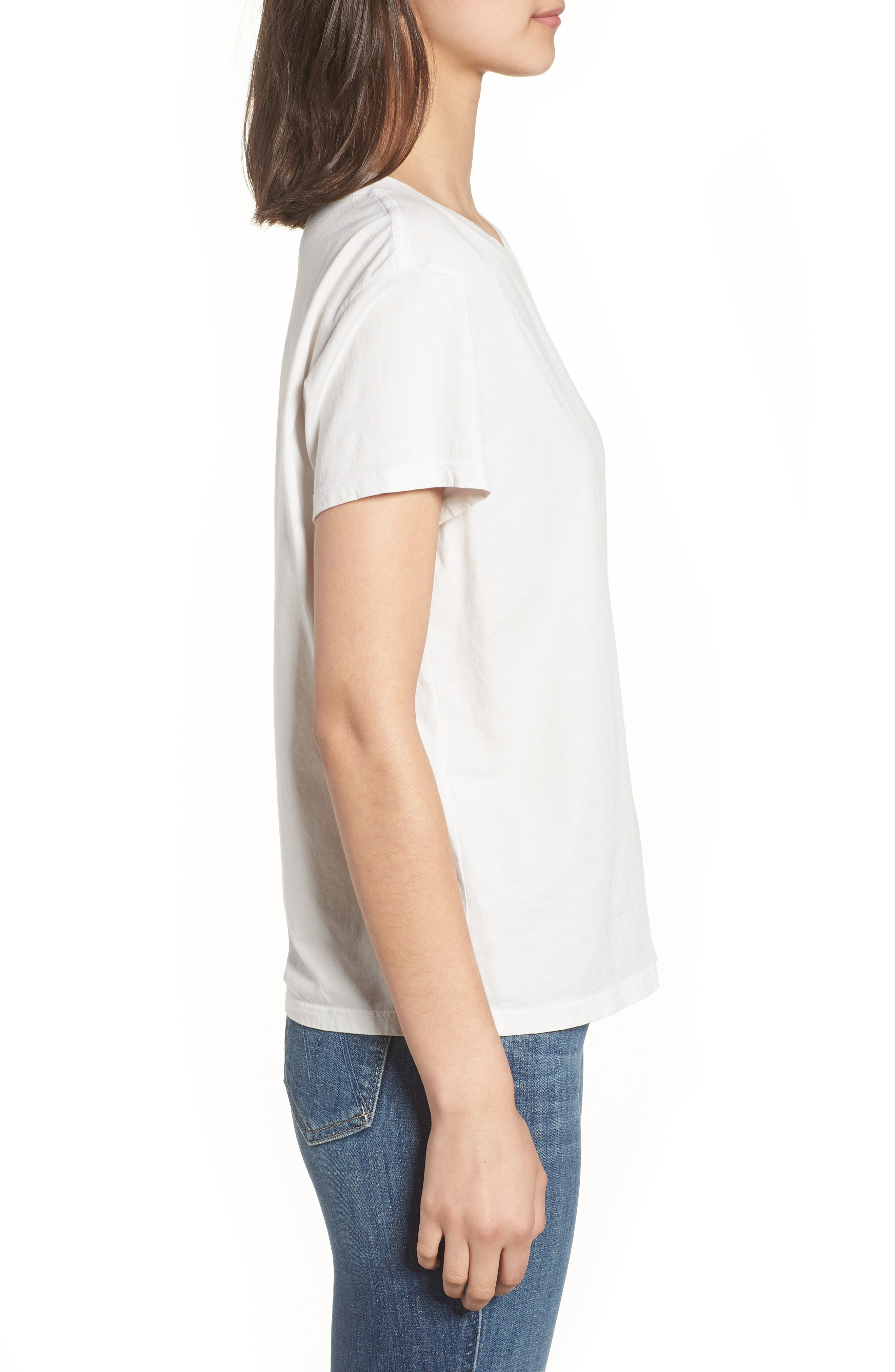 The Boxy Goodie Goodie Supima<sup>®</sup> Cotton Tee,                             Alternate thumbnail 3, color,                             Dirty White
