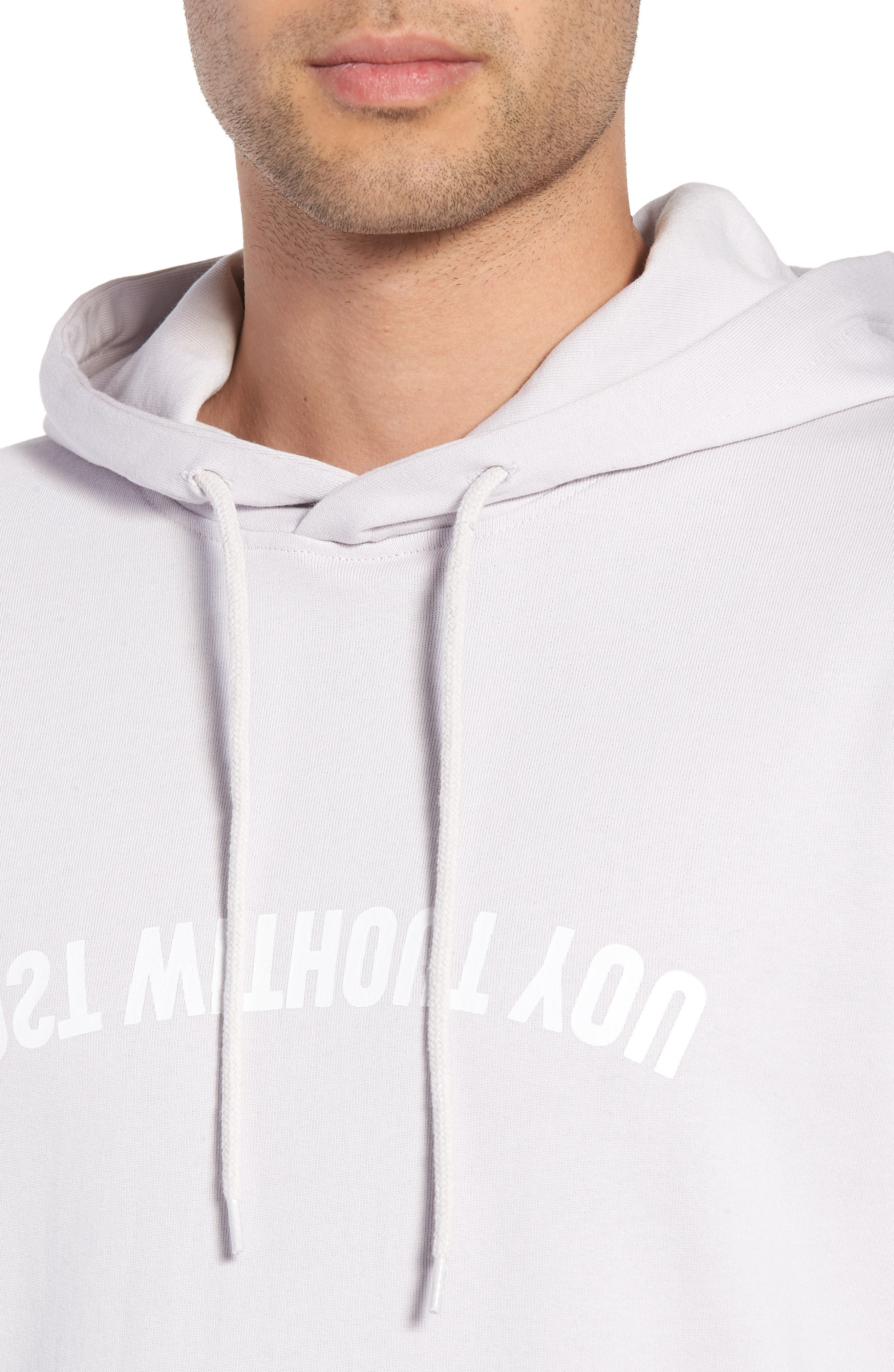 Mike Mirror Graphic Hoodie,                             Alternate thumbnail 4, color,                             Light Lilac