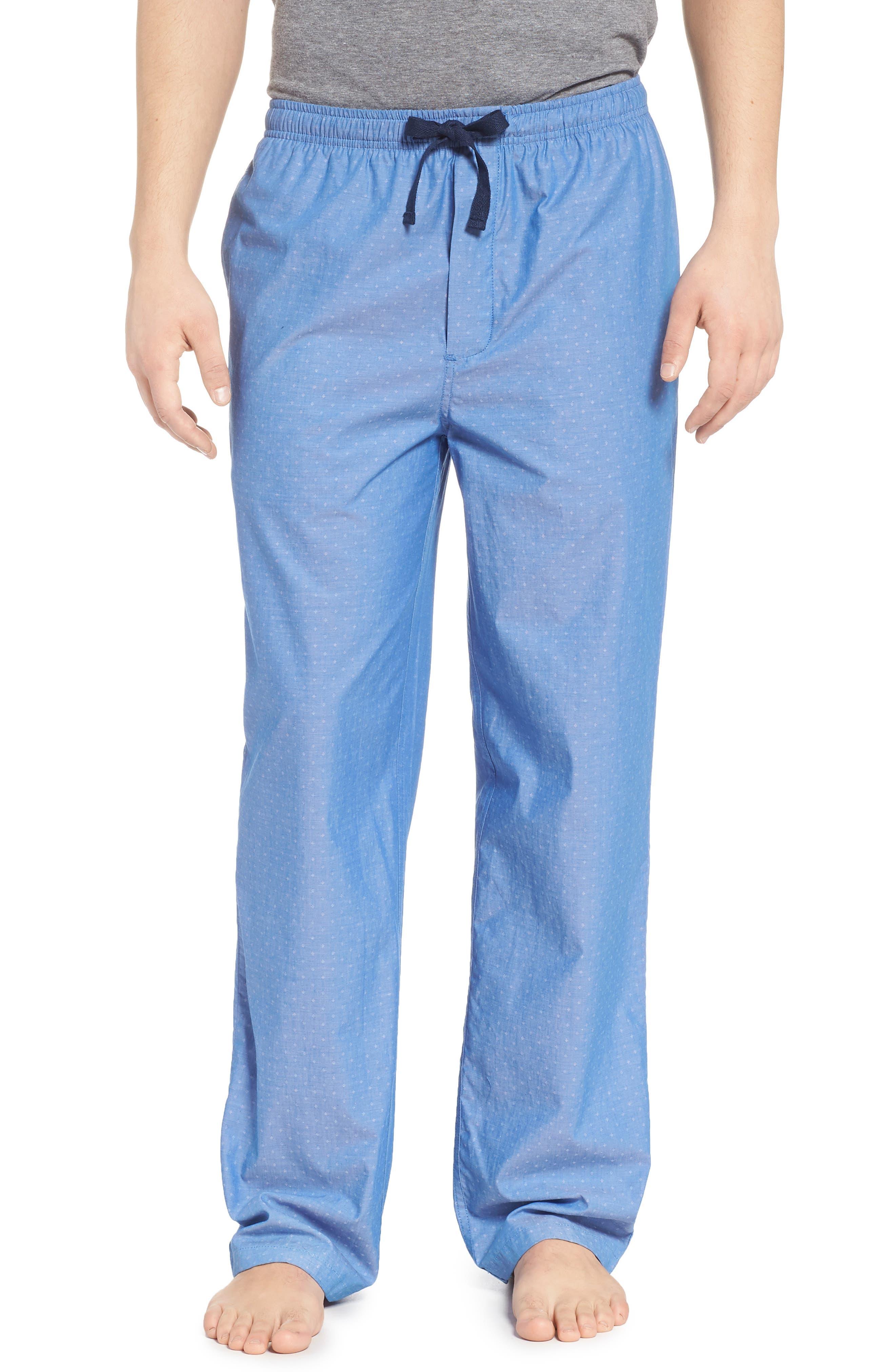 Poplin Lounge Pants,                         Main,                         color, Blue Bell Dobby Micro Dot