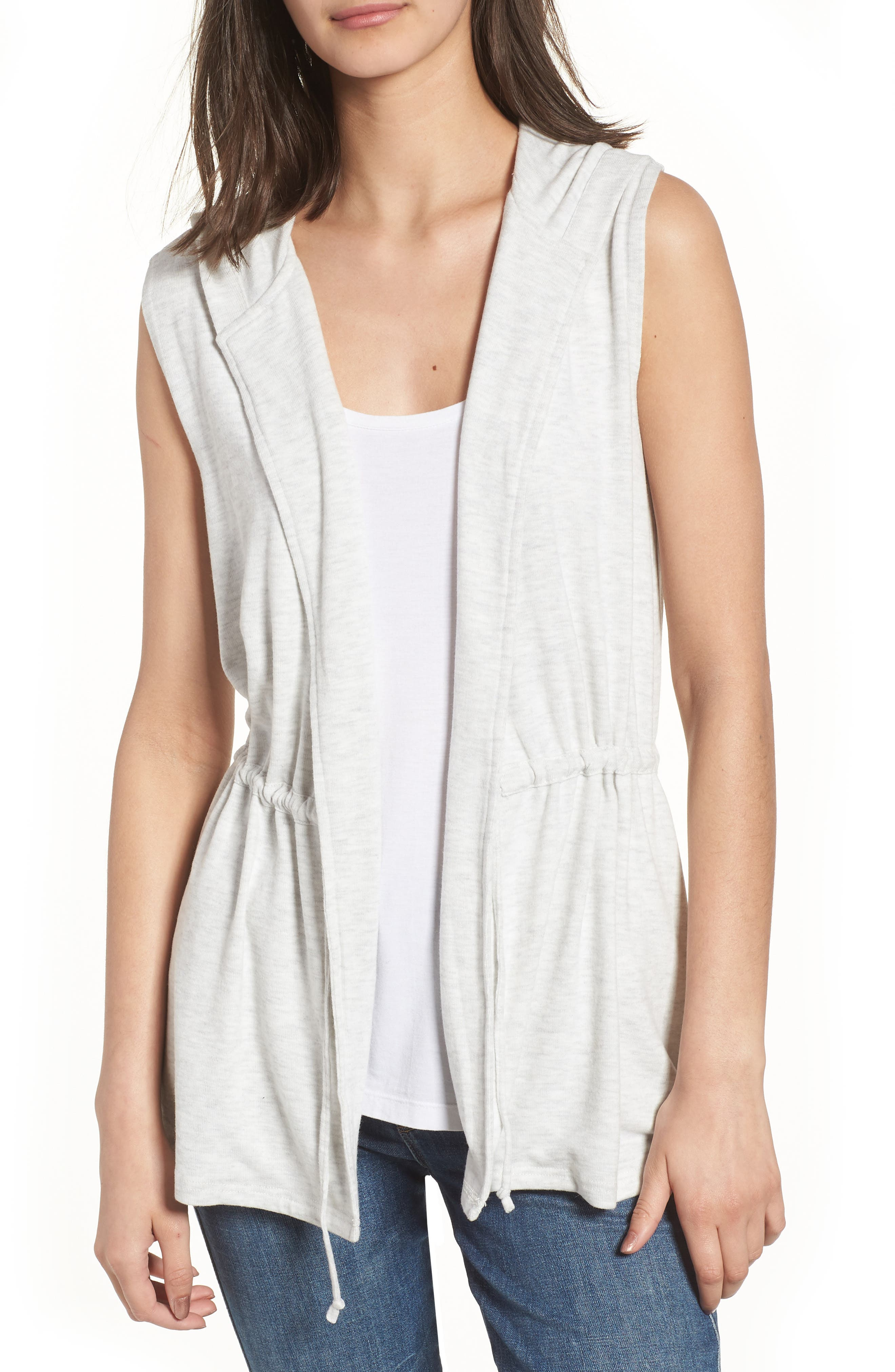 Able Hooded Vest,                         Main,                         color, Heather Ash