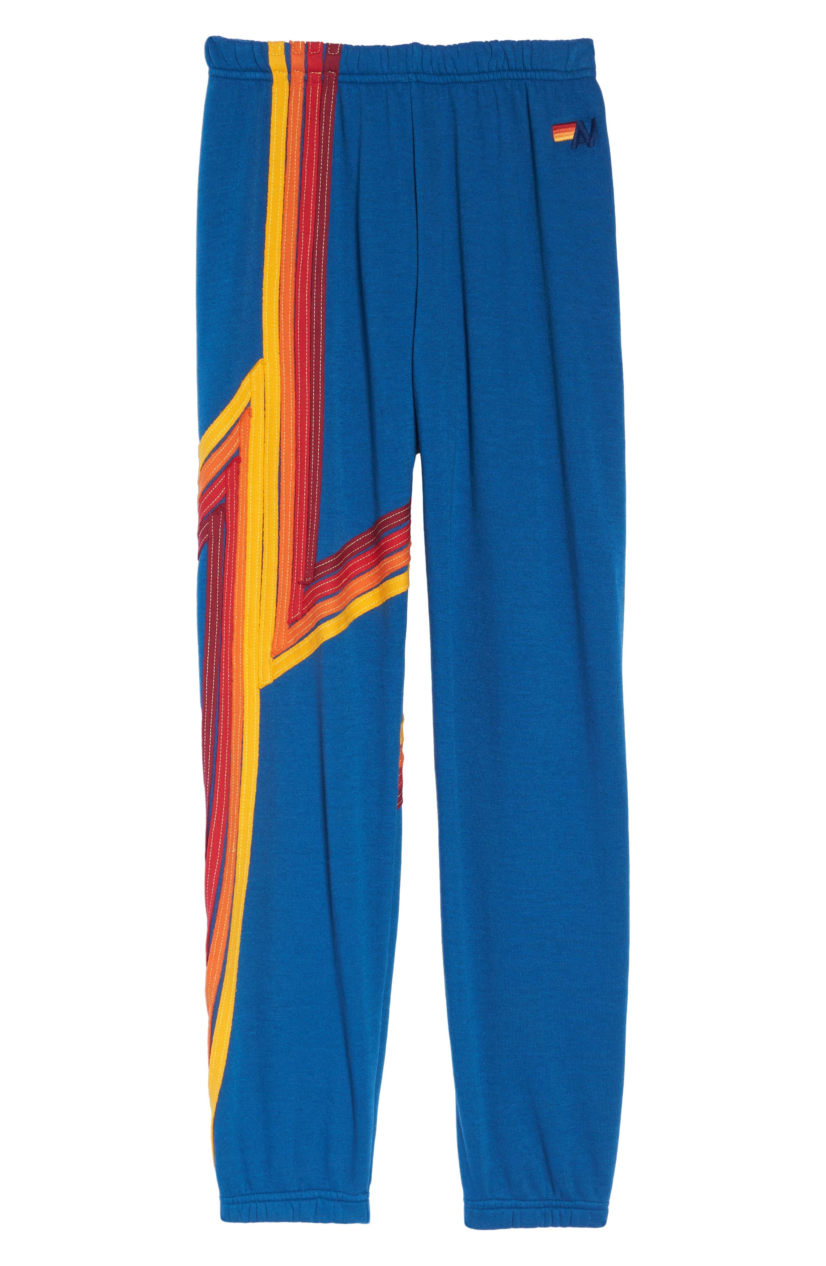 Blaze 4 Sweatpants,                             Alternate thumbnail 7, color,                             Caribbean/ Red Stripe