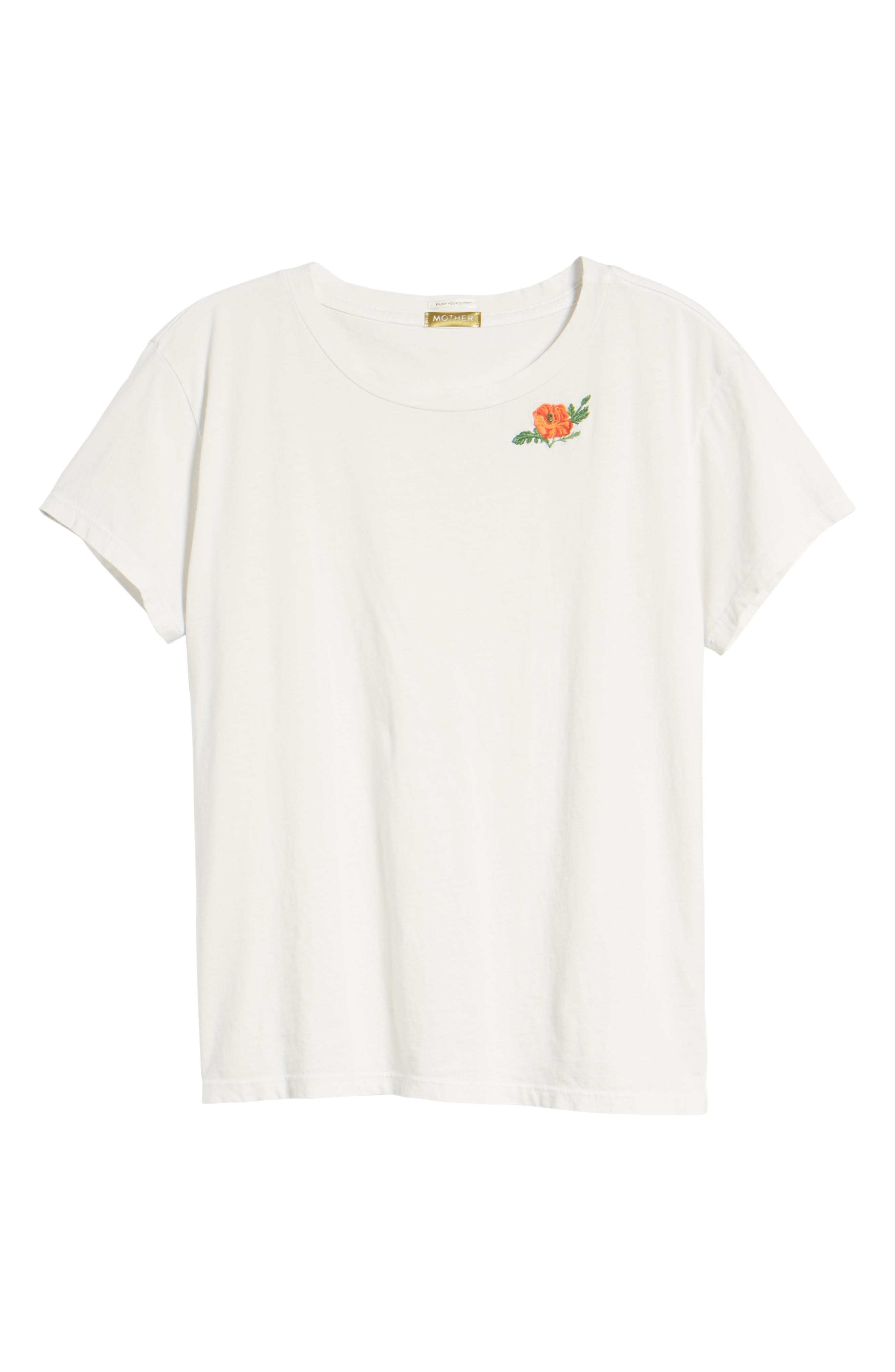 The Boxy Goodie Goodie Supima<sup>®</sup> Cotton Tee,                             Alternate thumbnail 7, color,                             Dirty White