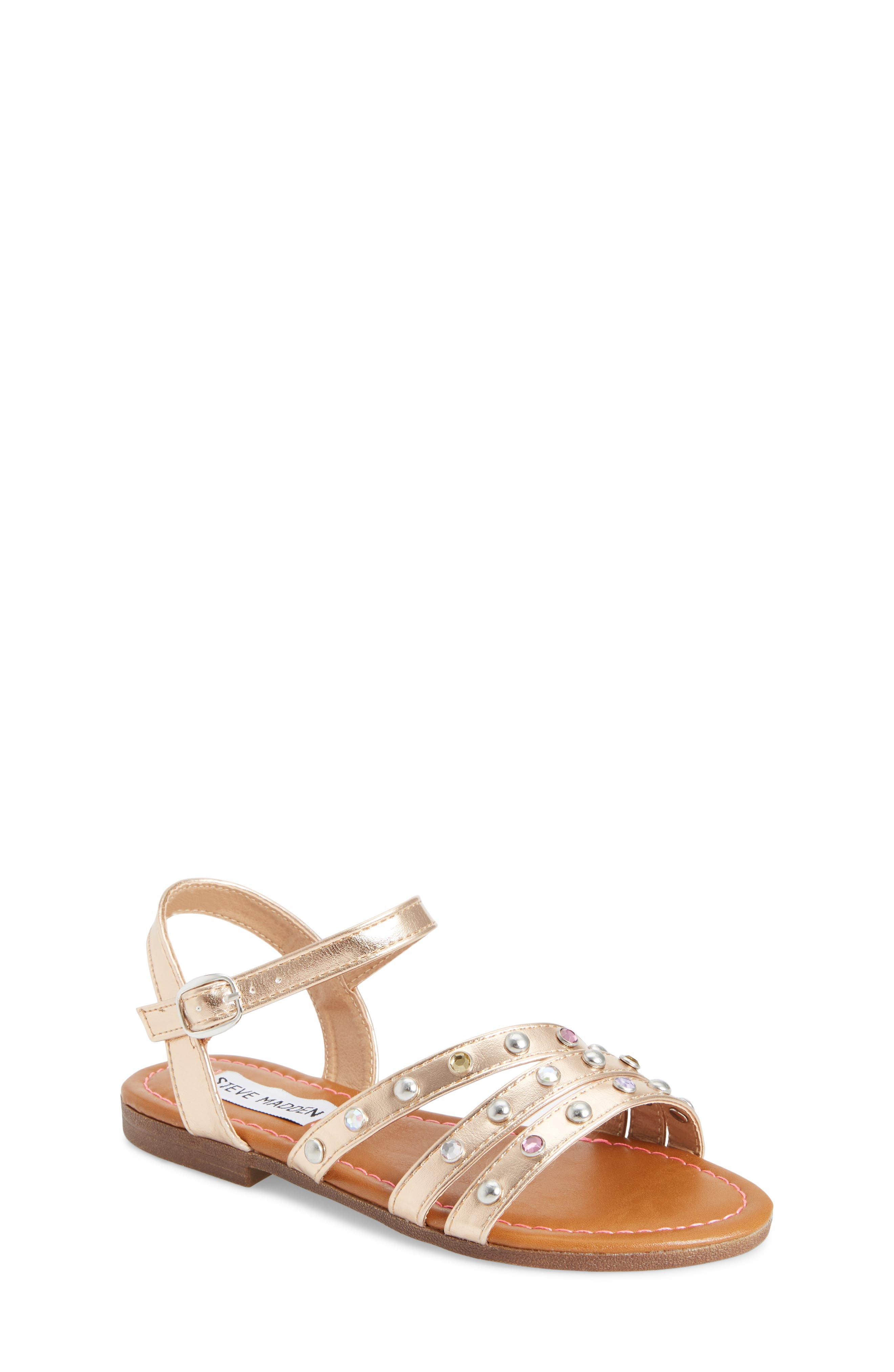 Steve Madden JSUNSET Crystal Embellished Sandal (Little Kid & Big Kid)