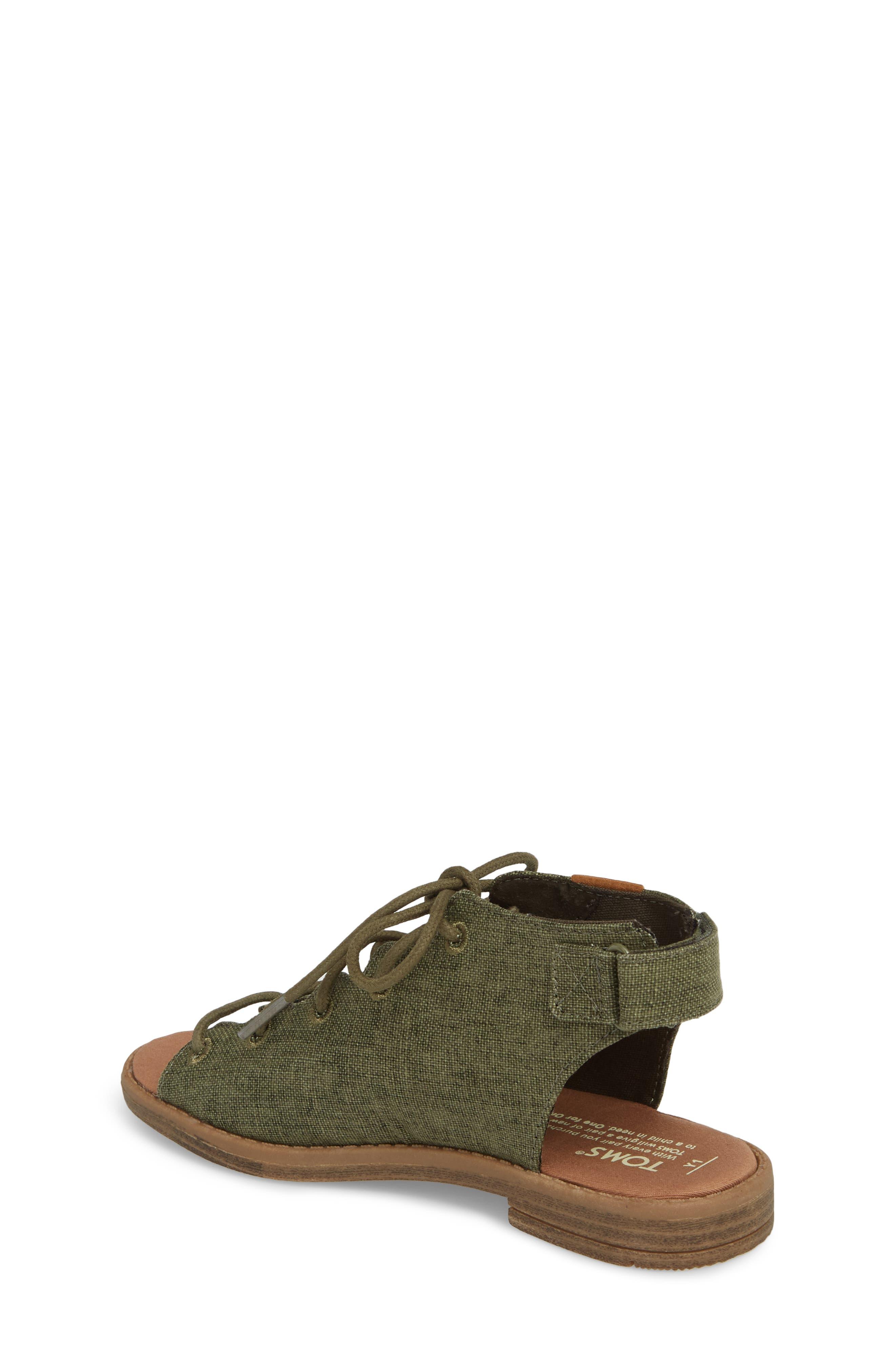 Uma Sandal,                             Alternate thumbnail 2, color,                             Cypress Coated Linen